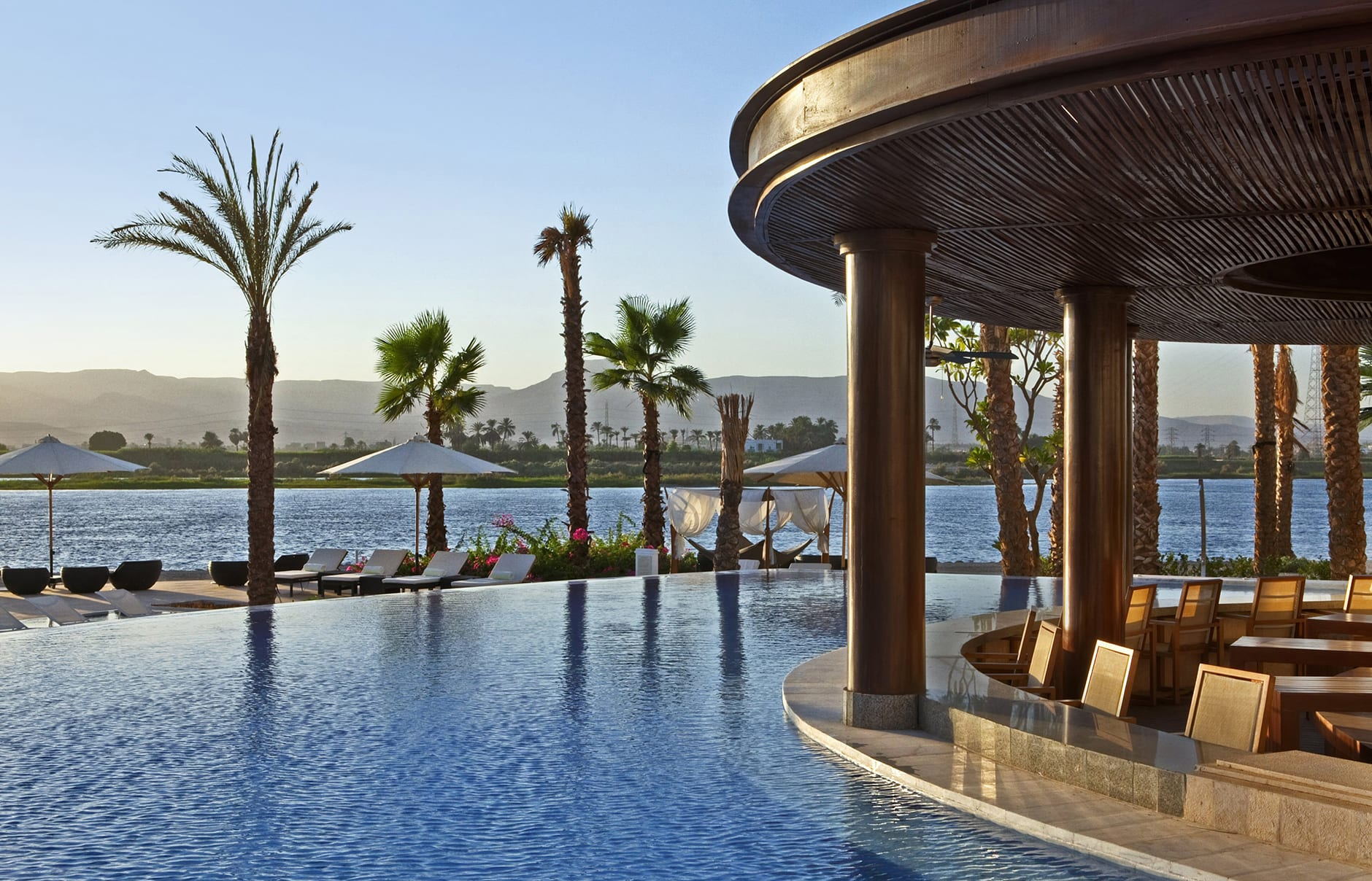 Hilton Luxor Resort & Spa, Luxor, Egypt. Hotel Review by TravelPlusStyle. Photo ©  Hilton Hotels & Resorts