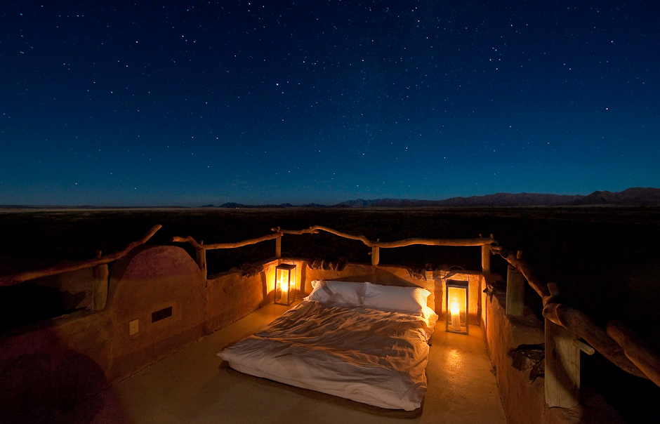 Star Bed, Little Kulala, Sossusvlei, Namibia. © Wilderness Safaris