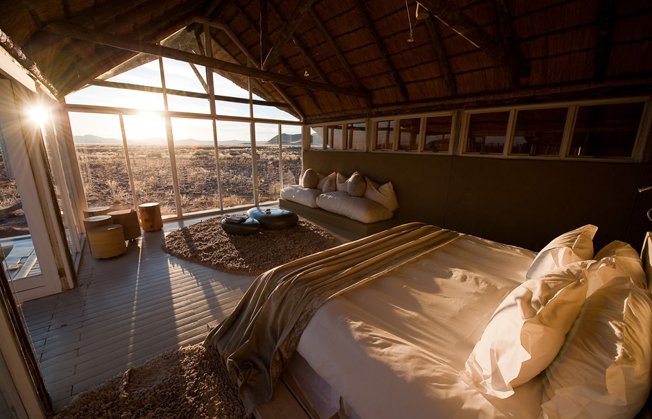 Room Interior, Little Kulala, Sossusvlei, Namibia. © Wilderness Safaris