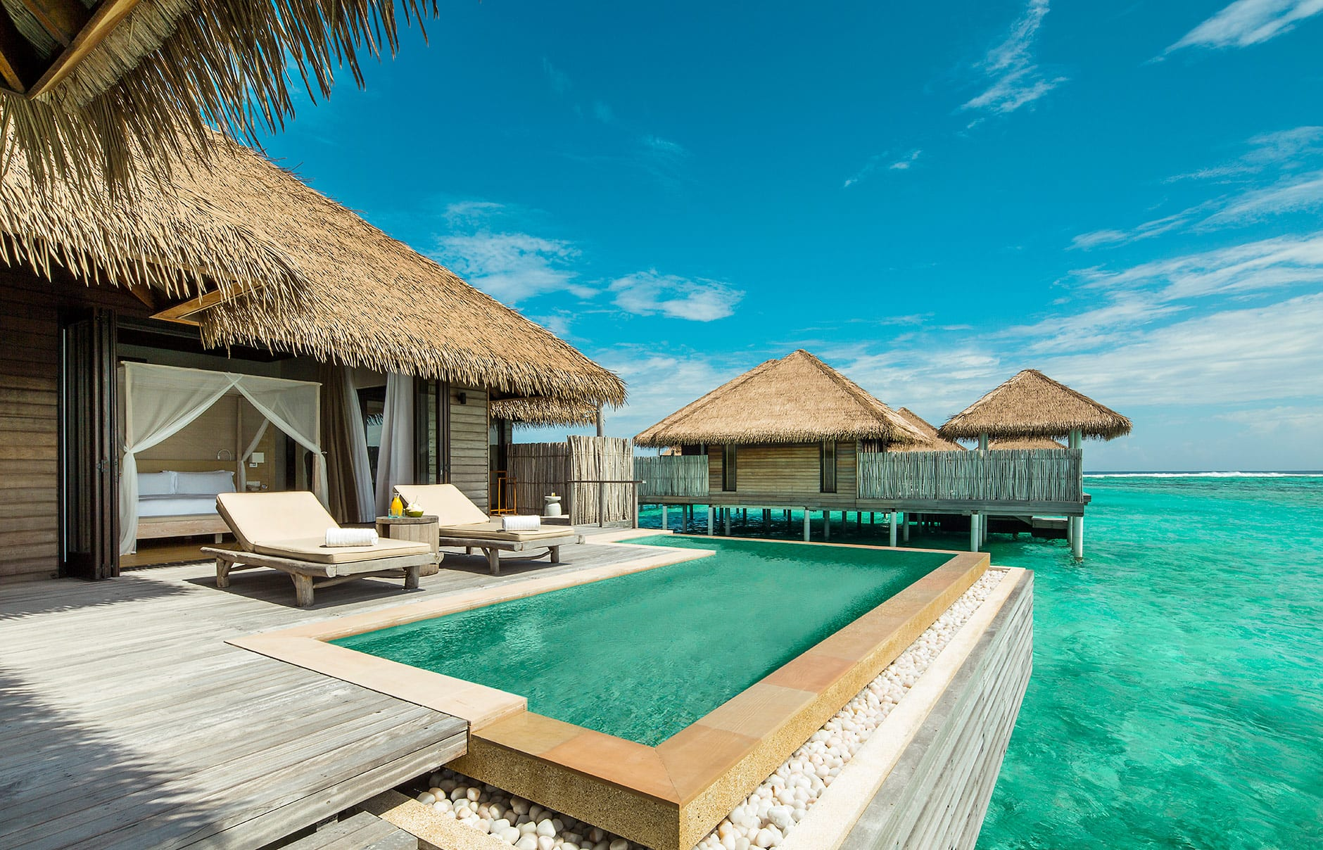 Water Villa. COMO Maalifushi, Maldives. Hotel Review by TravelPlusStyle. Photo © COMO Hotels & Resorts