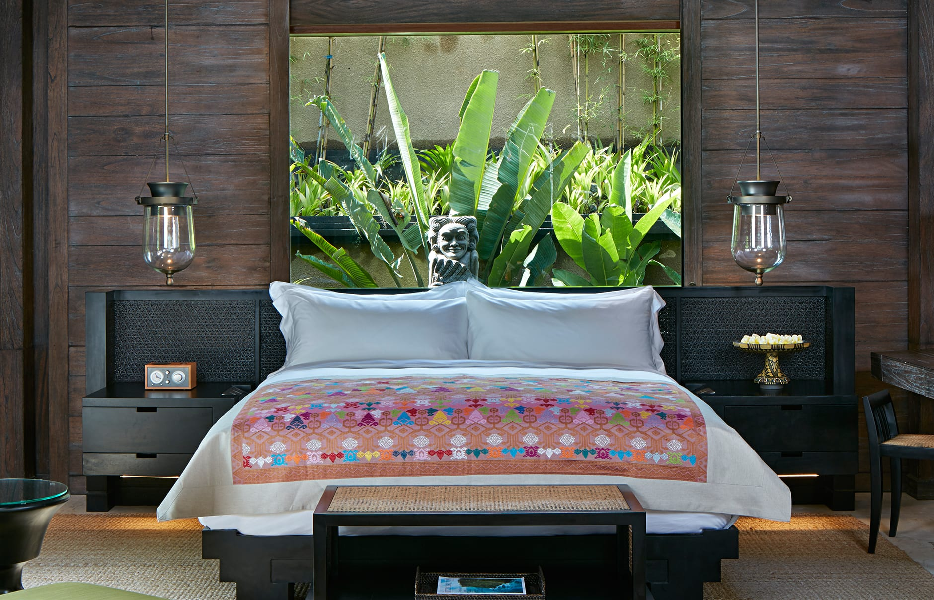 One Bedroom Pool Villa –Bedroom. Mandapa, a Ritz-Carlton Reserve, Ubud, Indonesia. © The Ritz-Carlton Hotel Company