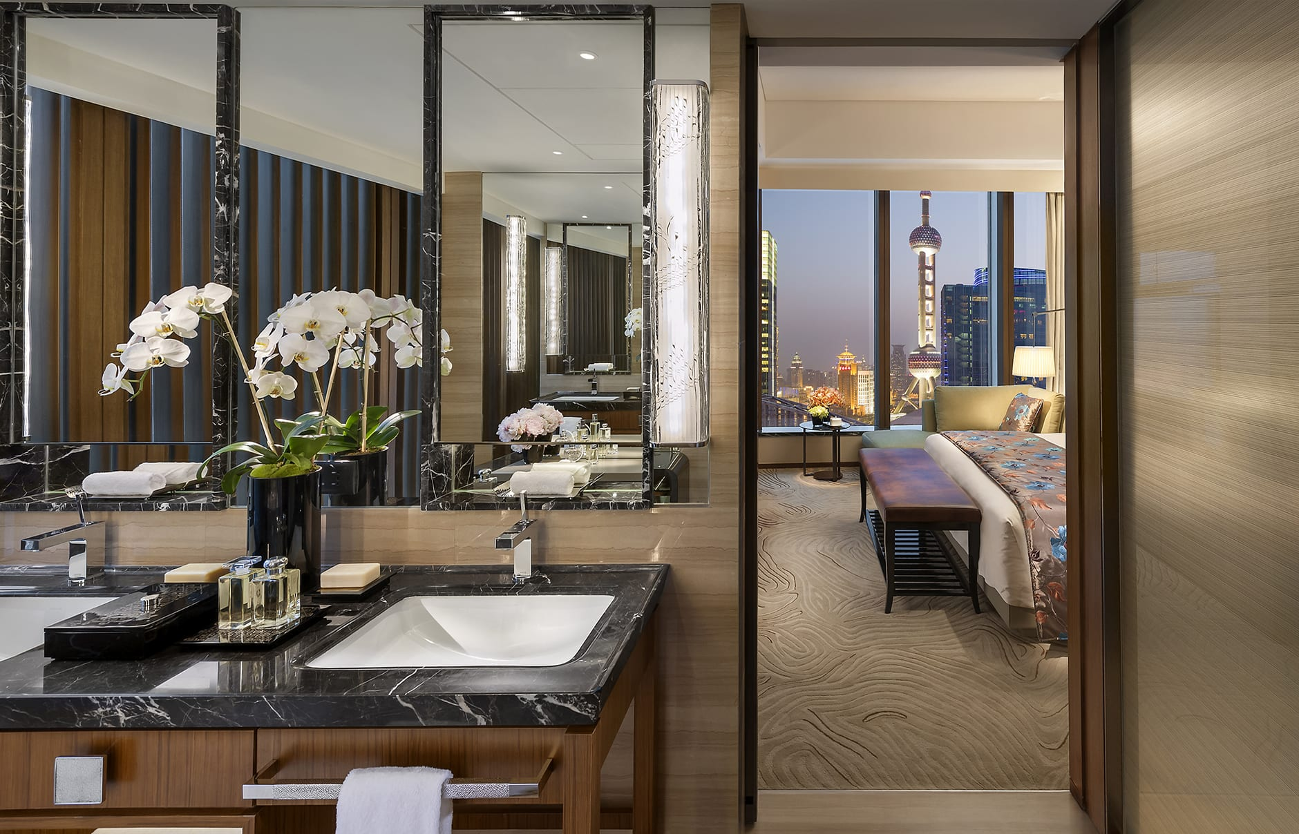 Mandarin Oriental Pudong, Shanghai, China. Luxury Hotel Review by TravelPlusStyle. Photo © Mandarin Oriental