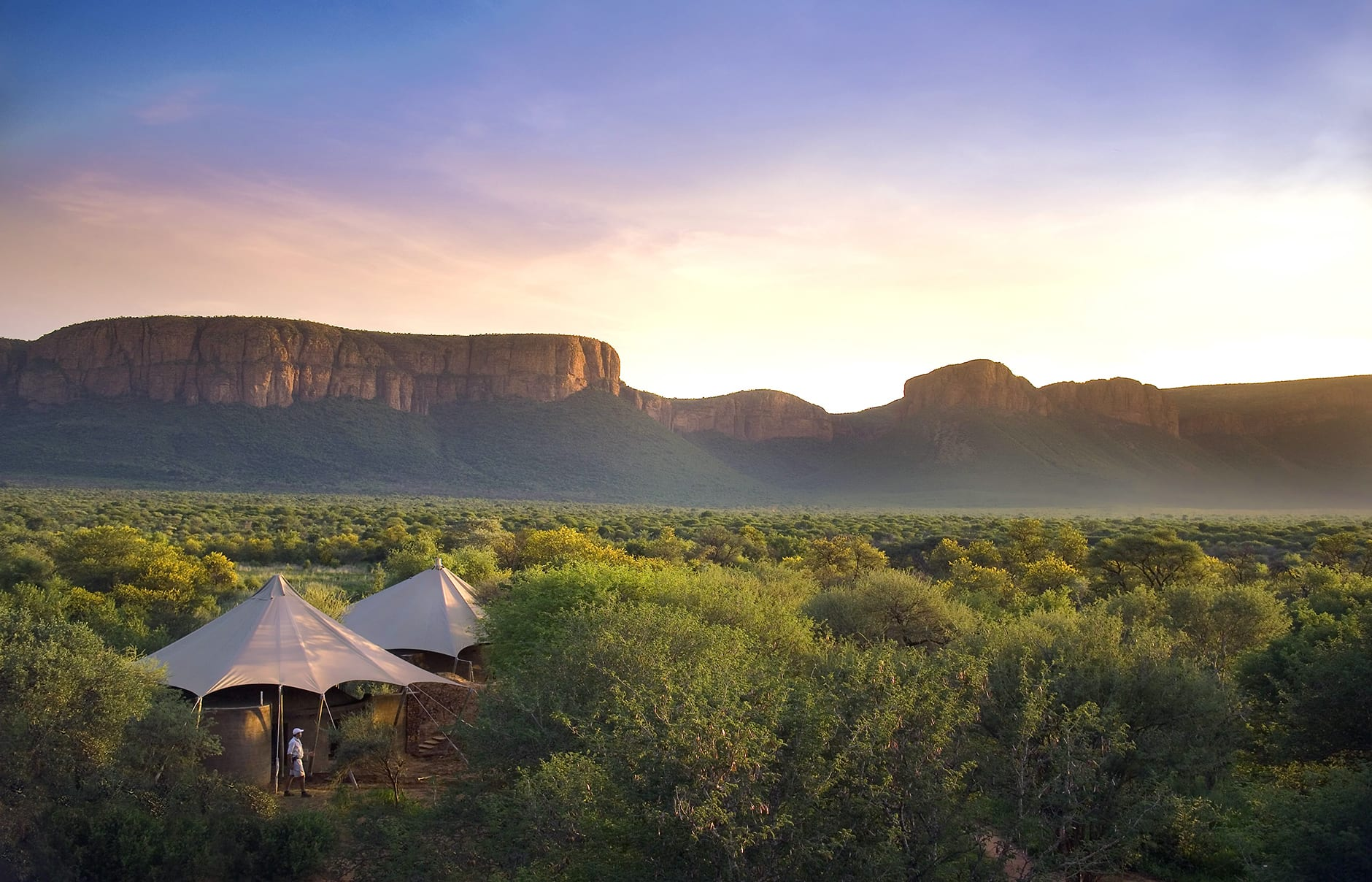 Lodge backdrop. Marataba Safari Company, South Africa. © Marataba