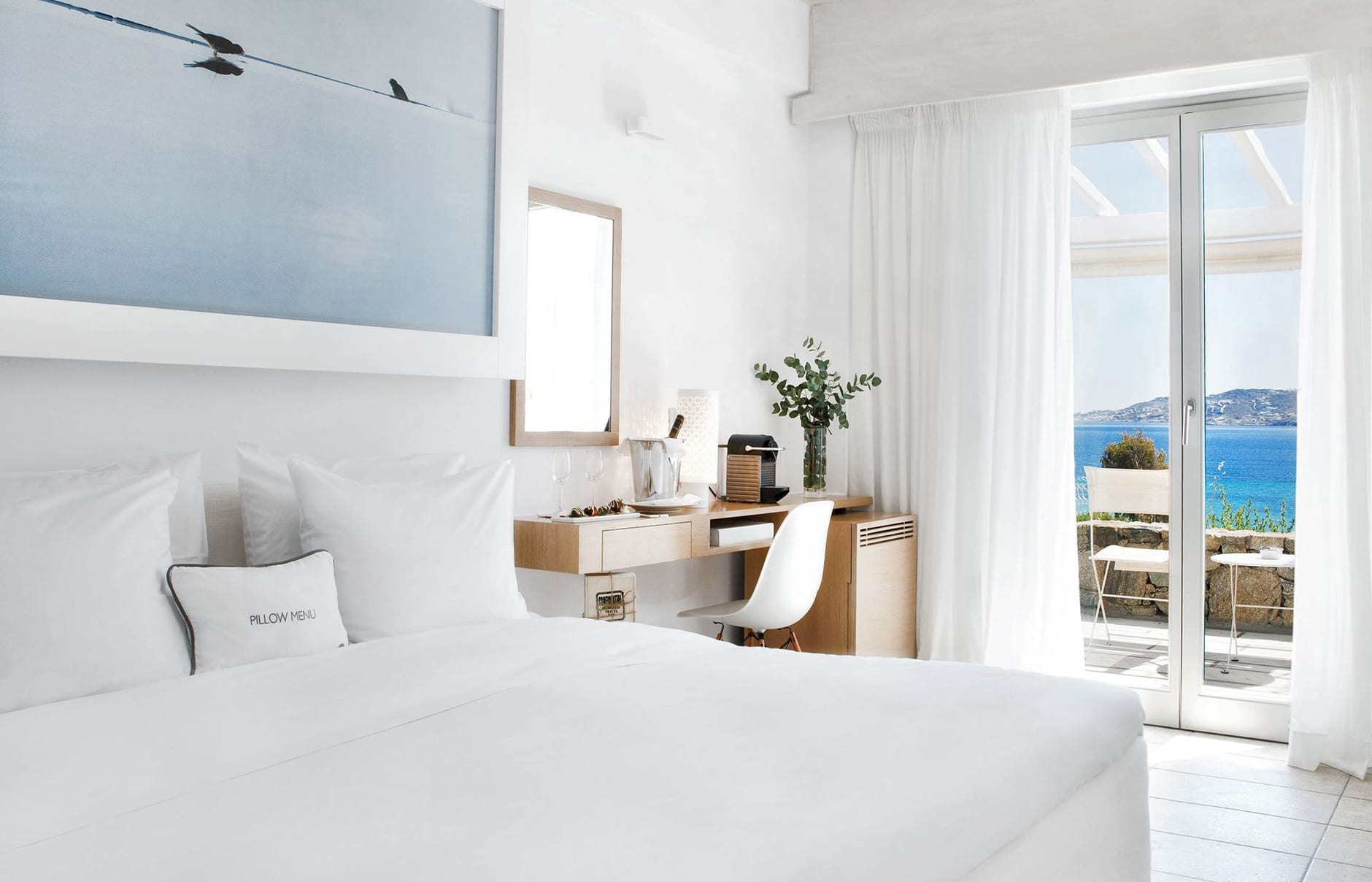 Grace Mykonos, Greece. Hotel Review by TravelPlusStyle. Photo © Grace Mykonos