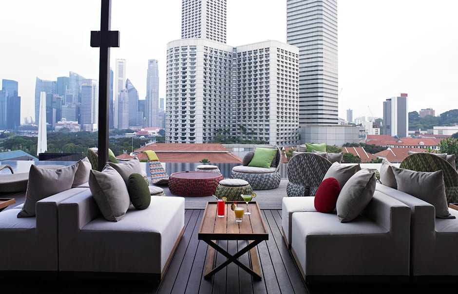 Rooftop view. Naumi, Singapore. © Naumi