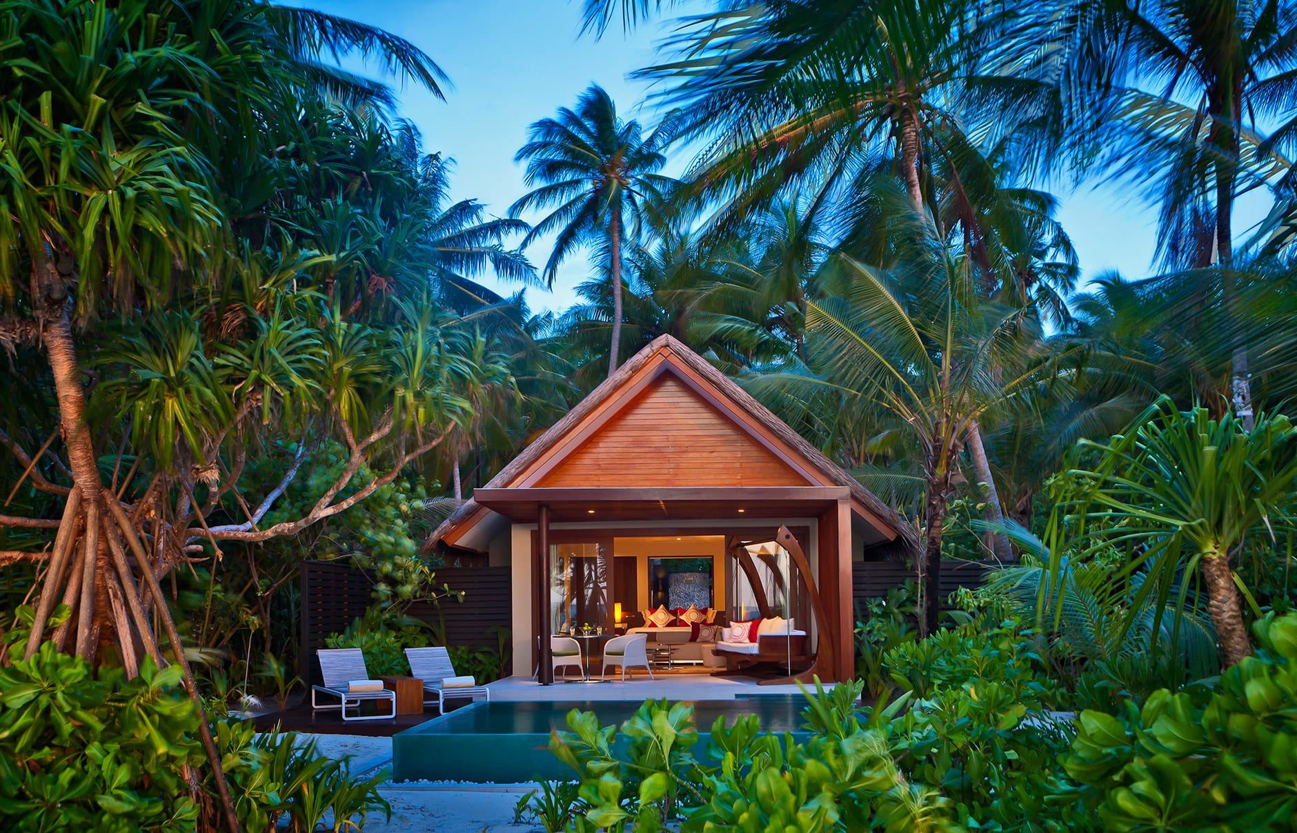 Niyama Beach Studio with pool. Niyama Private Islands Maldives. Hotel Review by TravelPlusStyle. Photo © NIYAMA