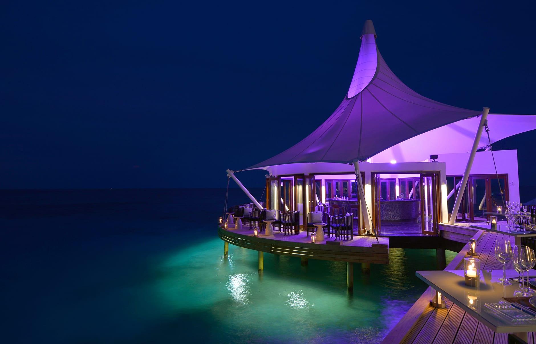 Edge Lounge. Niyama Private Islands Maldives. Hotel Review by TravelPlusStyle. Photo © NIYAMA