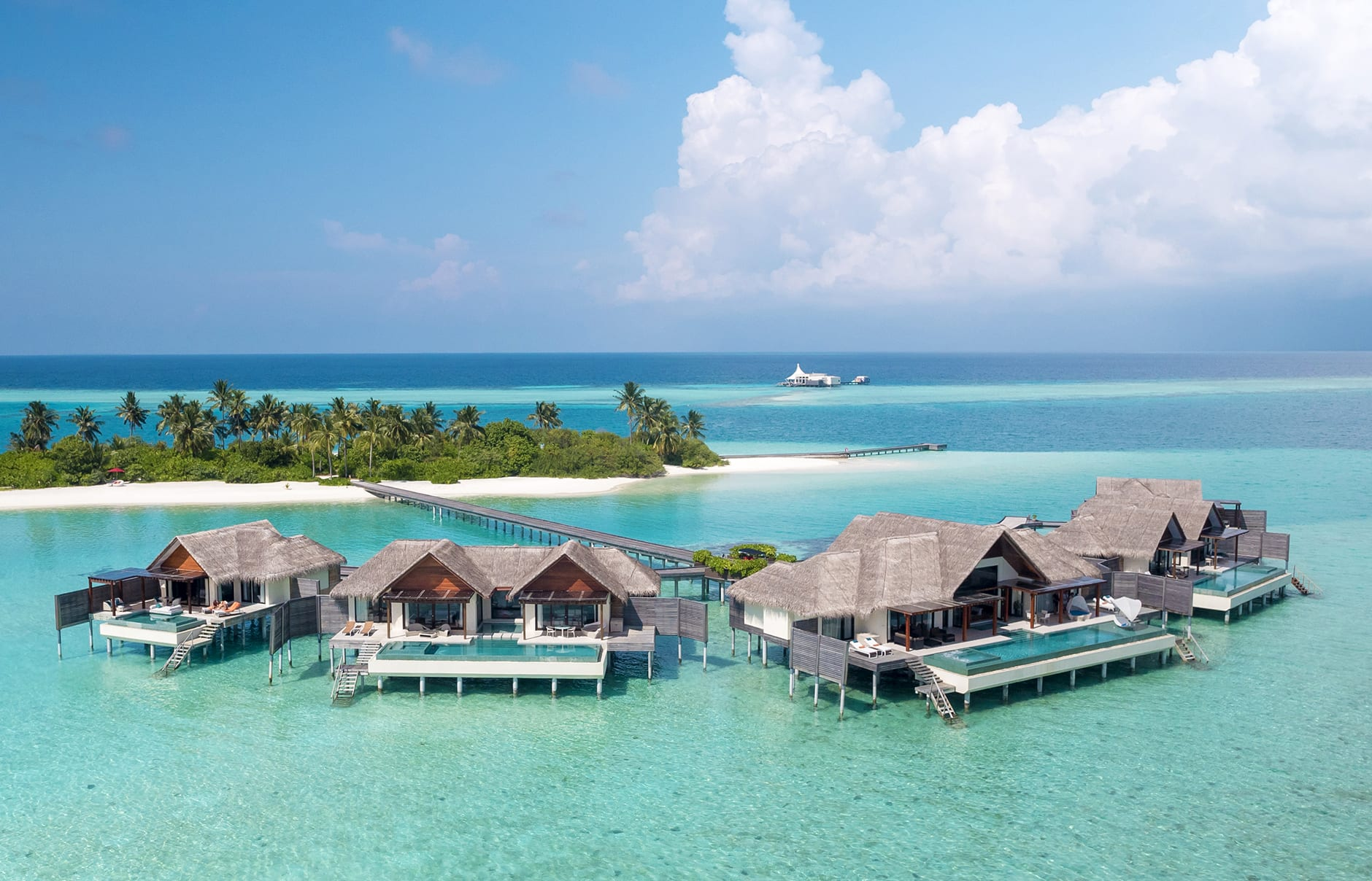 Niyama aerial. Niyama Private Islands Maldives. Hotel Review by TravelPlusStyle. Photo © NIYAMA