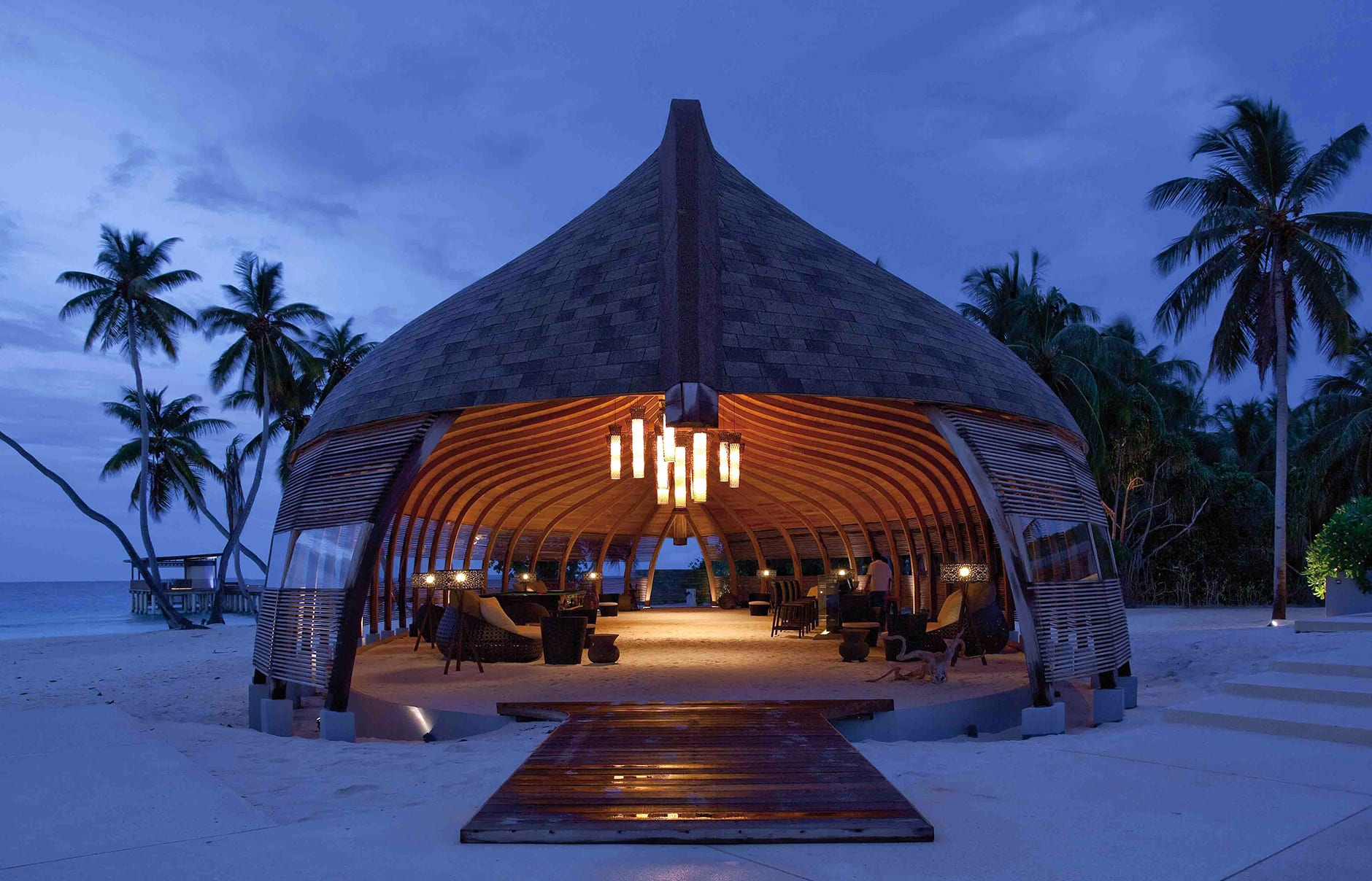 Park Hyatt Maldives, Hadahaa. Dhoni Reception area © Hyatt Corporation