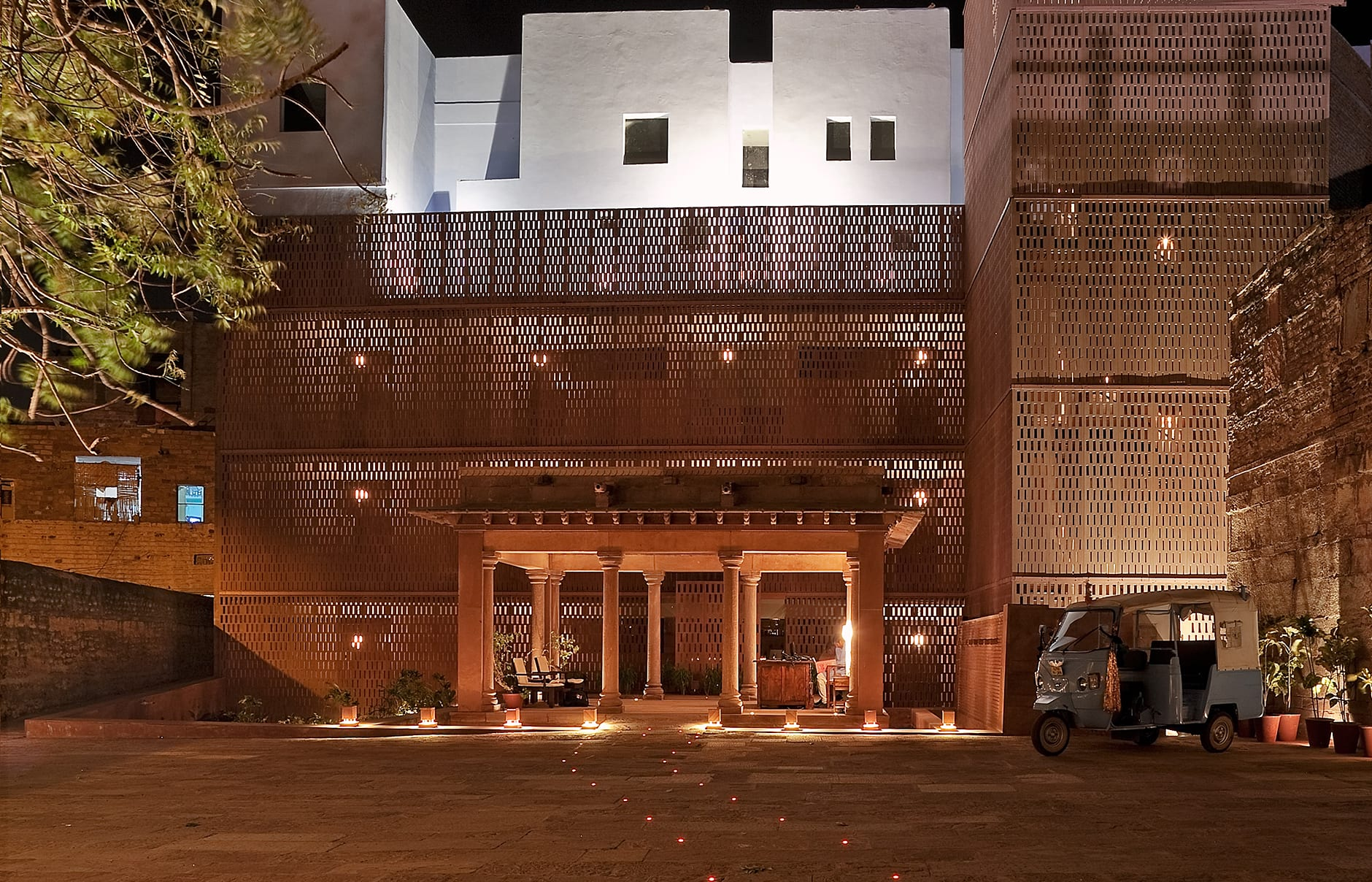 Entrance. Raas Jodhpur, India. Luxury Hotel Review by TravelPlusStyle. Photo © Rass