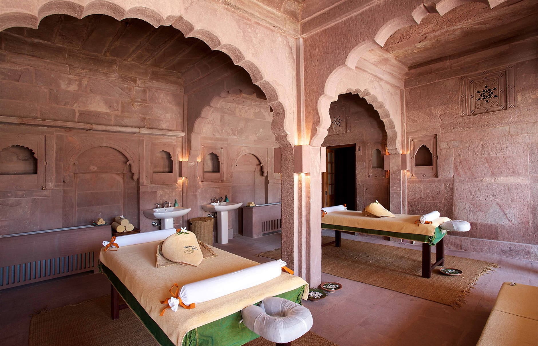 Spa treatment room. Raas Jodhpur, India. Luxury Hotel Review by TravelPlusStyle. Photo © Rass