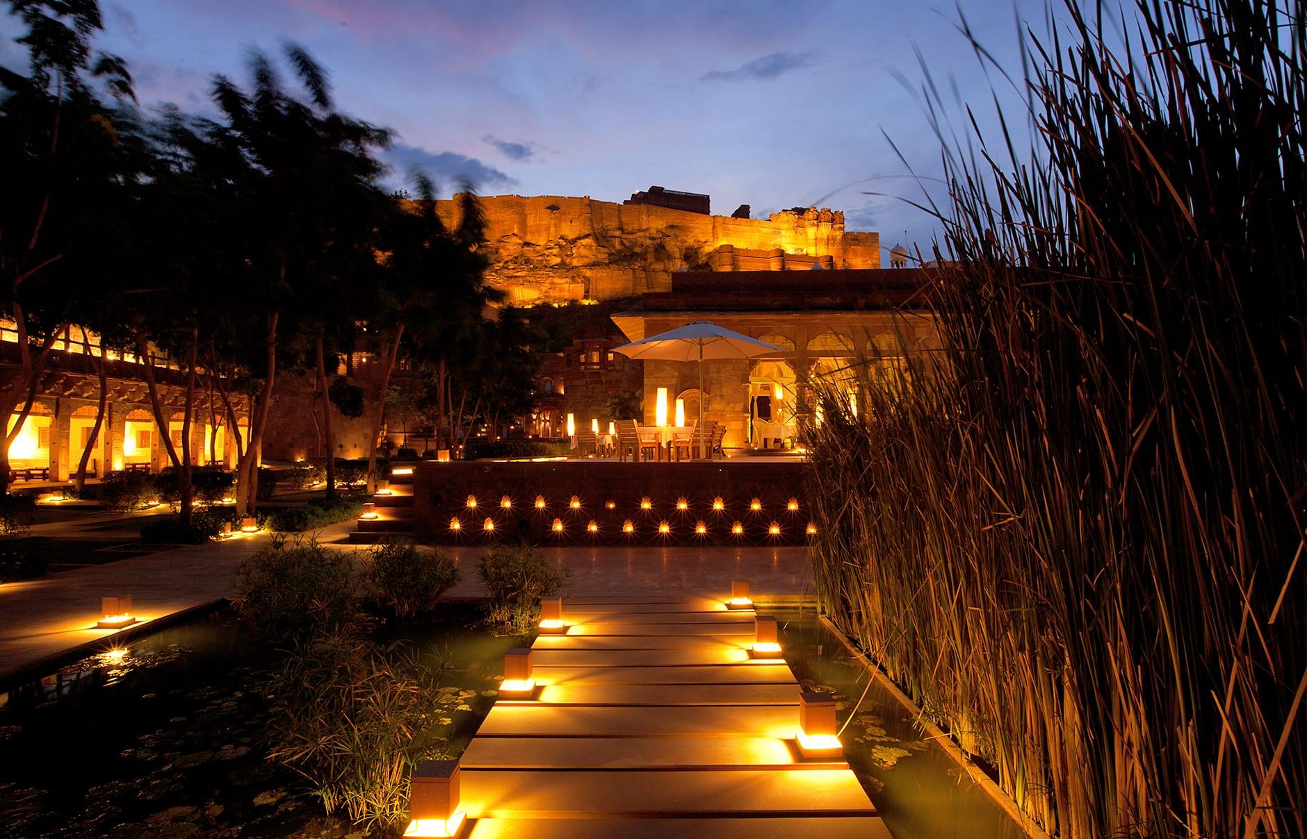 Raas evening view. Raas Jodhpur, India. © Rass