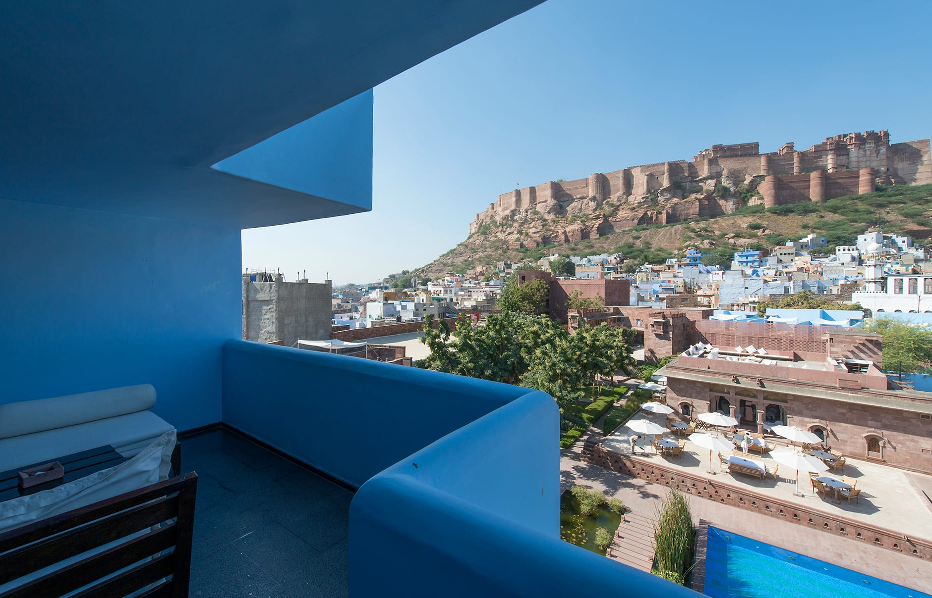 Duplex Suite. Raas Jodhpur, India. Luxury Hotel Review by TravelPlusStyle. Photo © Rass