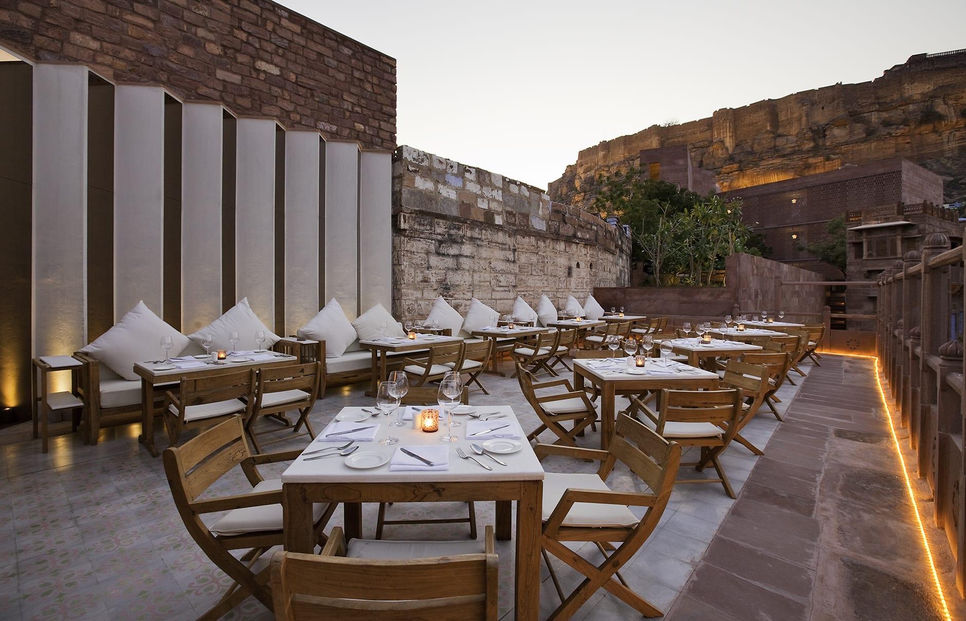 Darikhana Restaurant. Raas Jodhpur, India. © Rass