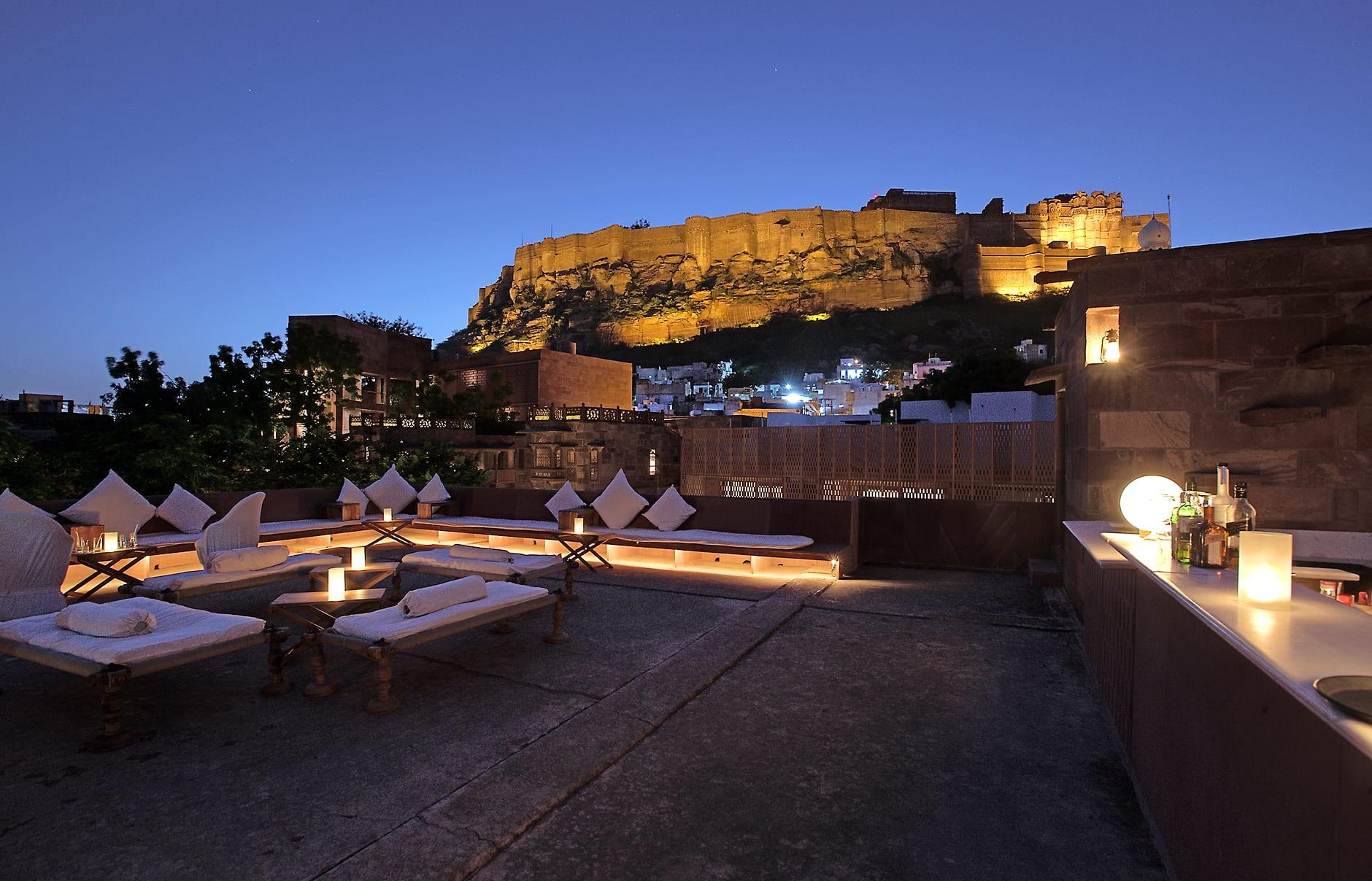 Rooftop bar. Raas Jodhpur, India. © Rass