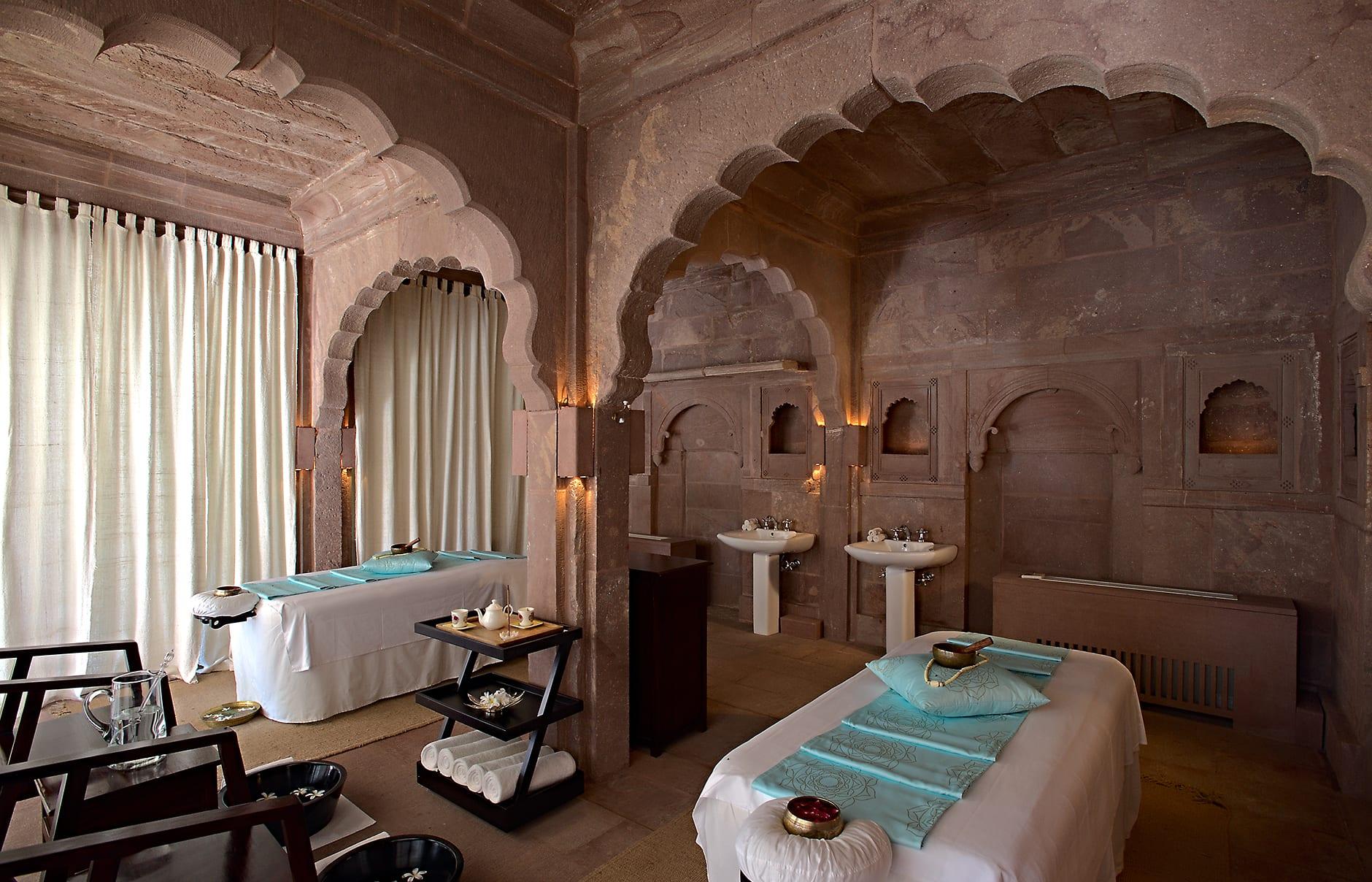 Spa treatment room. Raas Jodhpur, India. © Rass