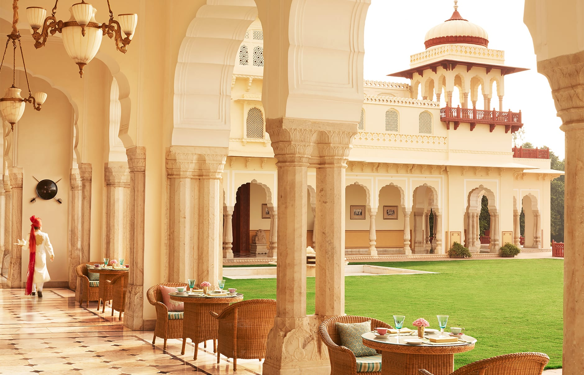 Taj Rambagh Palace, Jaipur, India. Luxury Hotel Review by TravelPlusStyle. Photo © Taj Hotels Resorts and Palaces