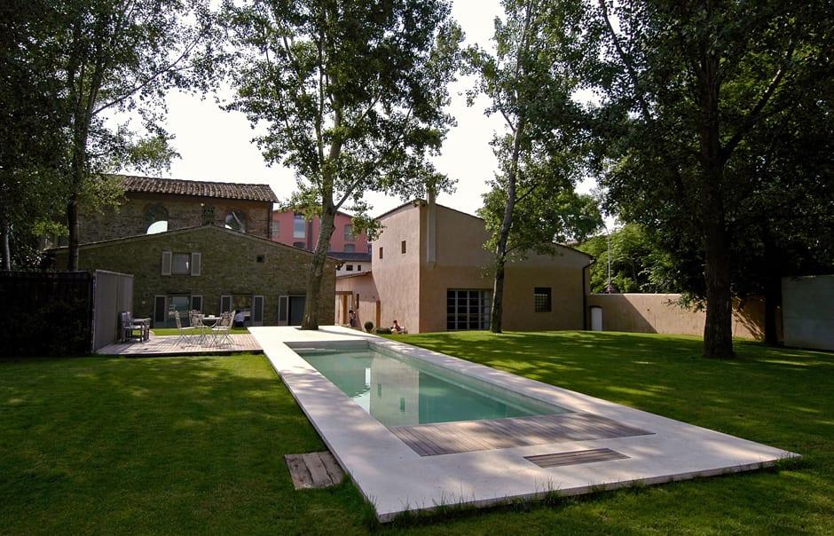 Garden and pool. Riva Lofts Florence, Italy. © Riva Lofts