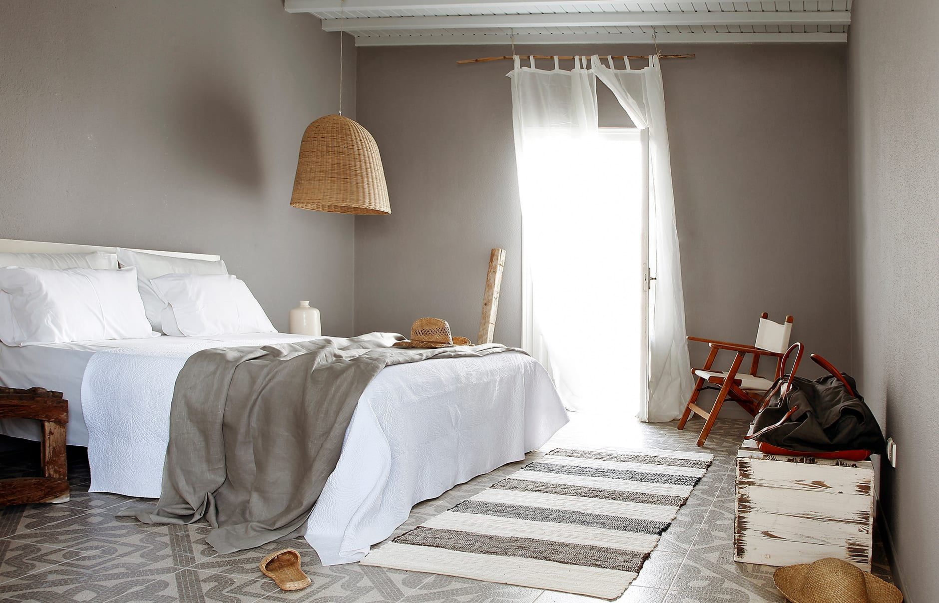 Bedroom. San Giorgio Mykonos a Design Hotels™ Project, Greece. © SAN GIORGIO