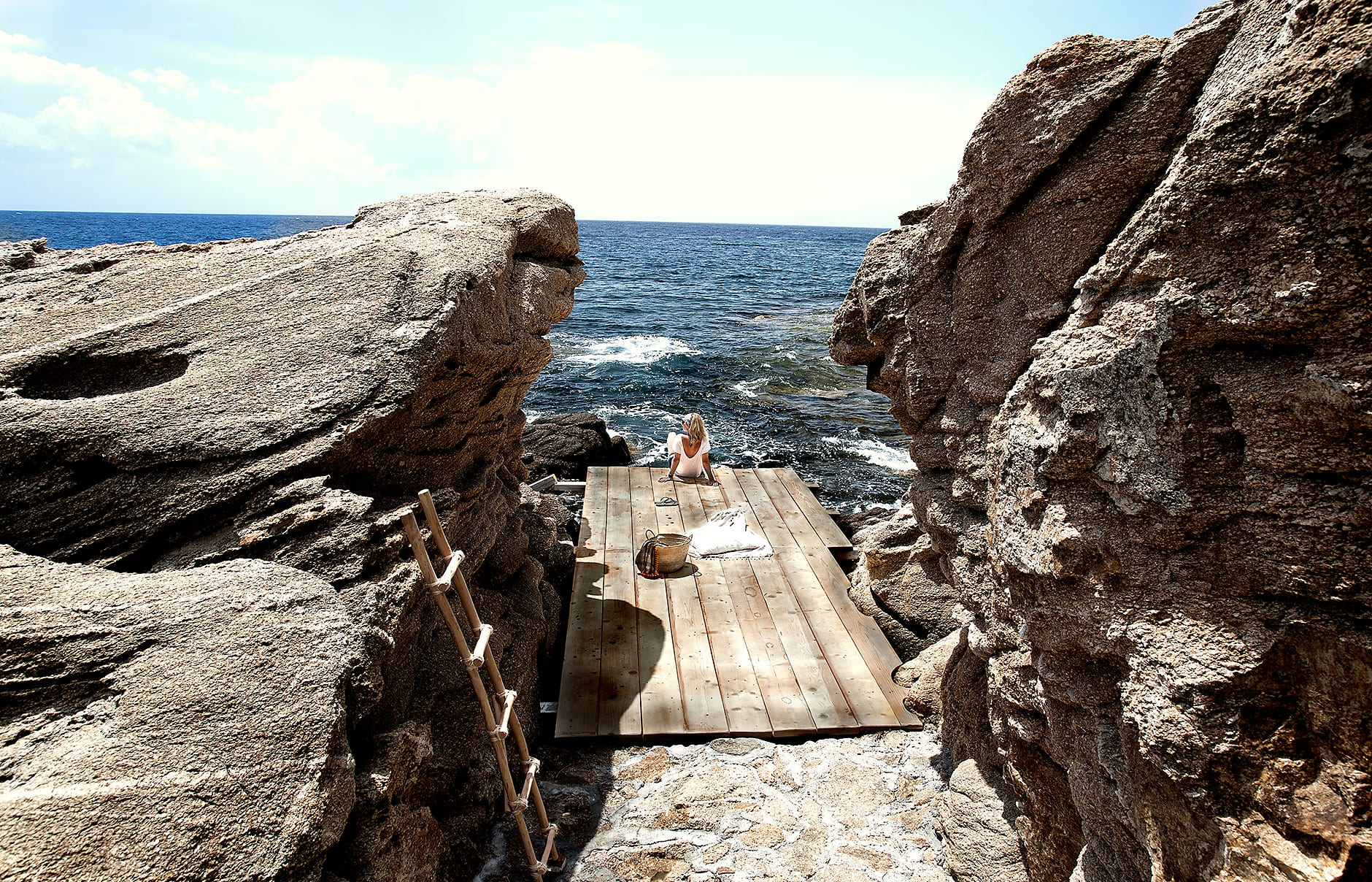 The Beach. San Giorgio Mykonos a Design Hotels™ Project, Greece. © SAN GIORGIO