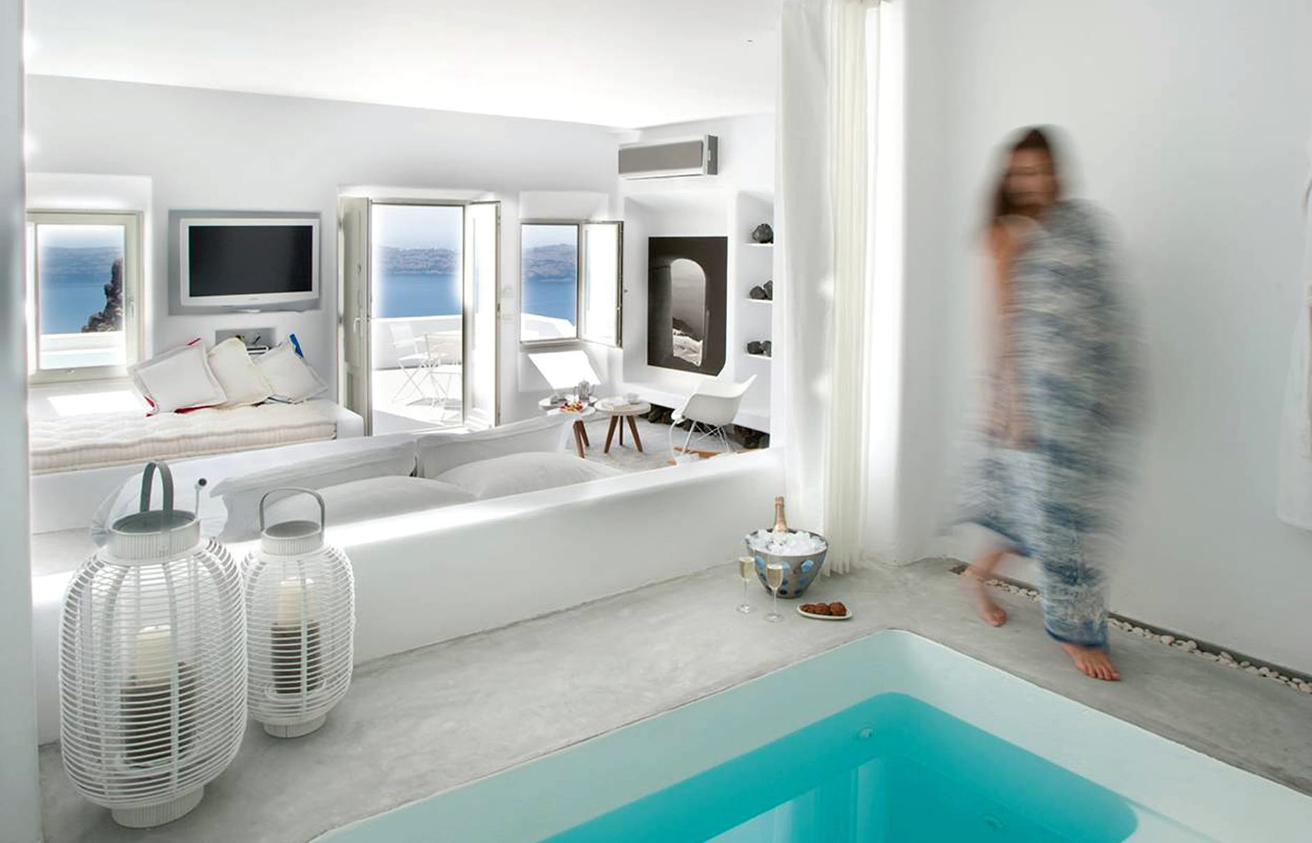 Grace Suite. Grace Hotel Santorini, Greece. Luxury Hotel Review by TravelPlusStyle. Photo © Auberge Resorts Collection