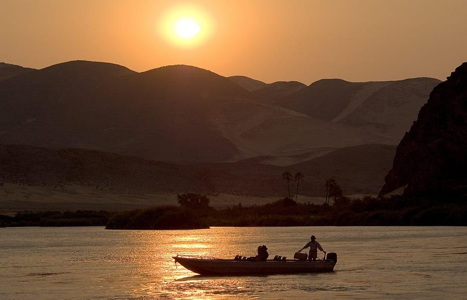 Boat Ride on the Kunene River, Serra Cafema, Kaokoland, Namibia. © Wilderness Safaris