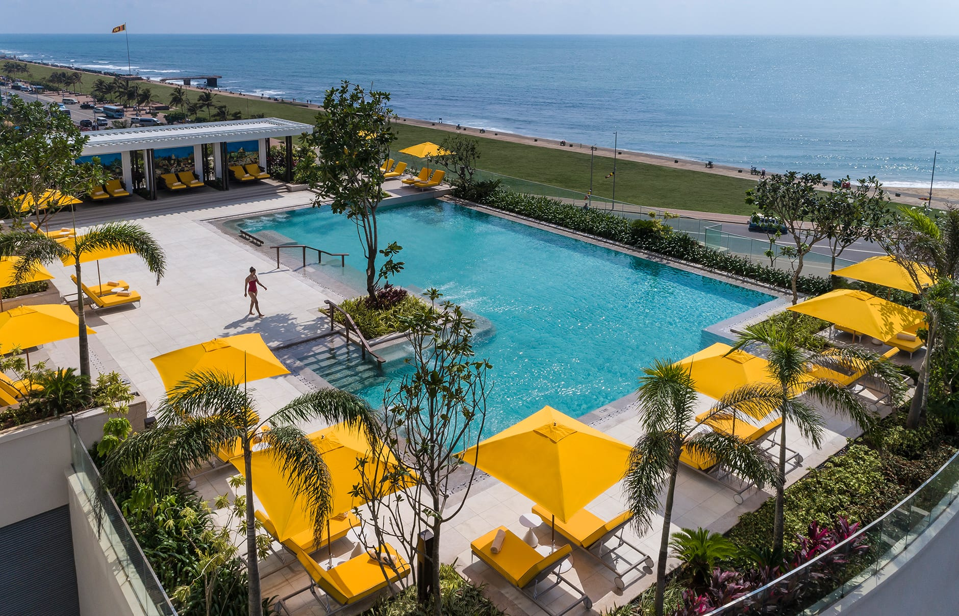 Swimming pool. Shangri-La Hotel Colombo, Sri Lanka. Hotel Review by TravelPlusStyle. Photo © Shangri-La