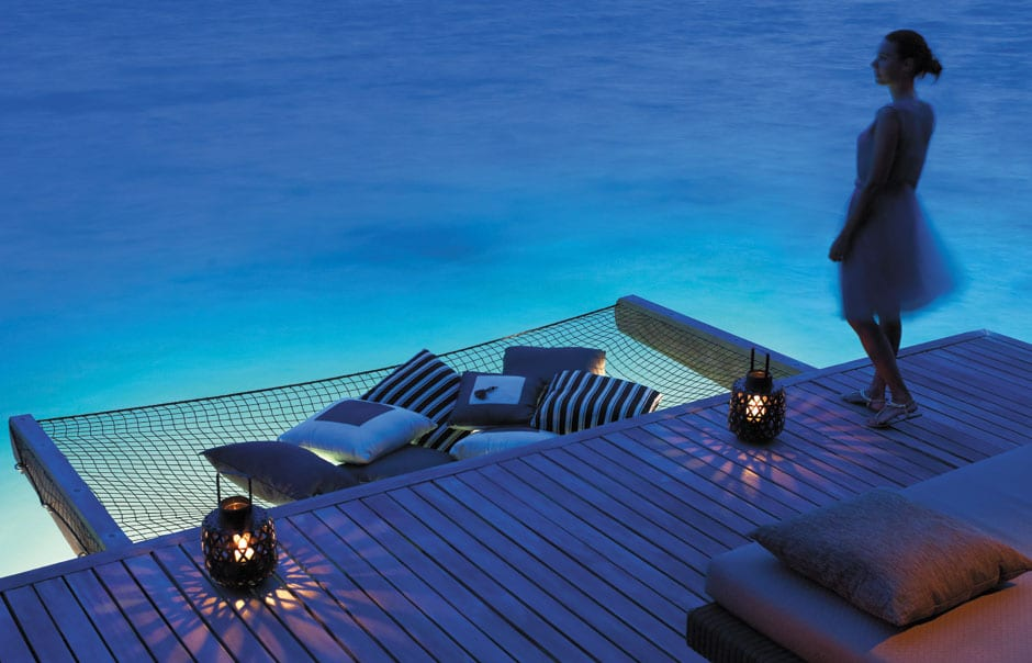 Water Villa. Shangri-La's Villingili Resort and Spa. © Shangri-La Hotels and Resorts