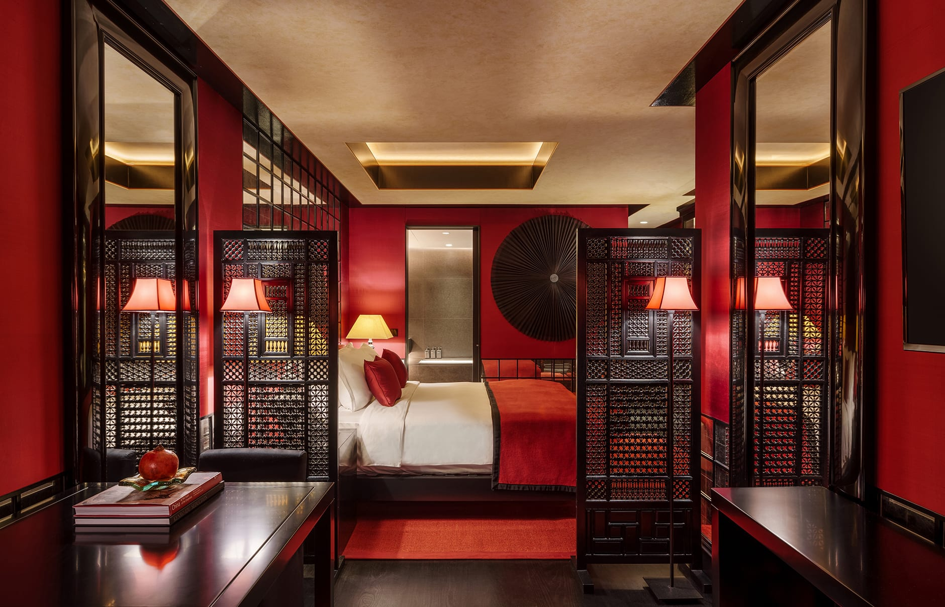 Six Senses Duxton, Singapore. Opium Room (Ruby). Luxury Hotel Review by TravelPlusStyle. Photo © Six Senses Hotels Resorts Spas