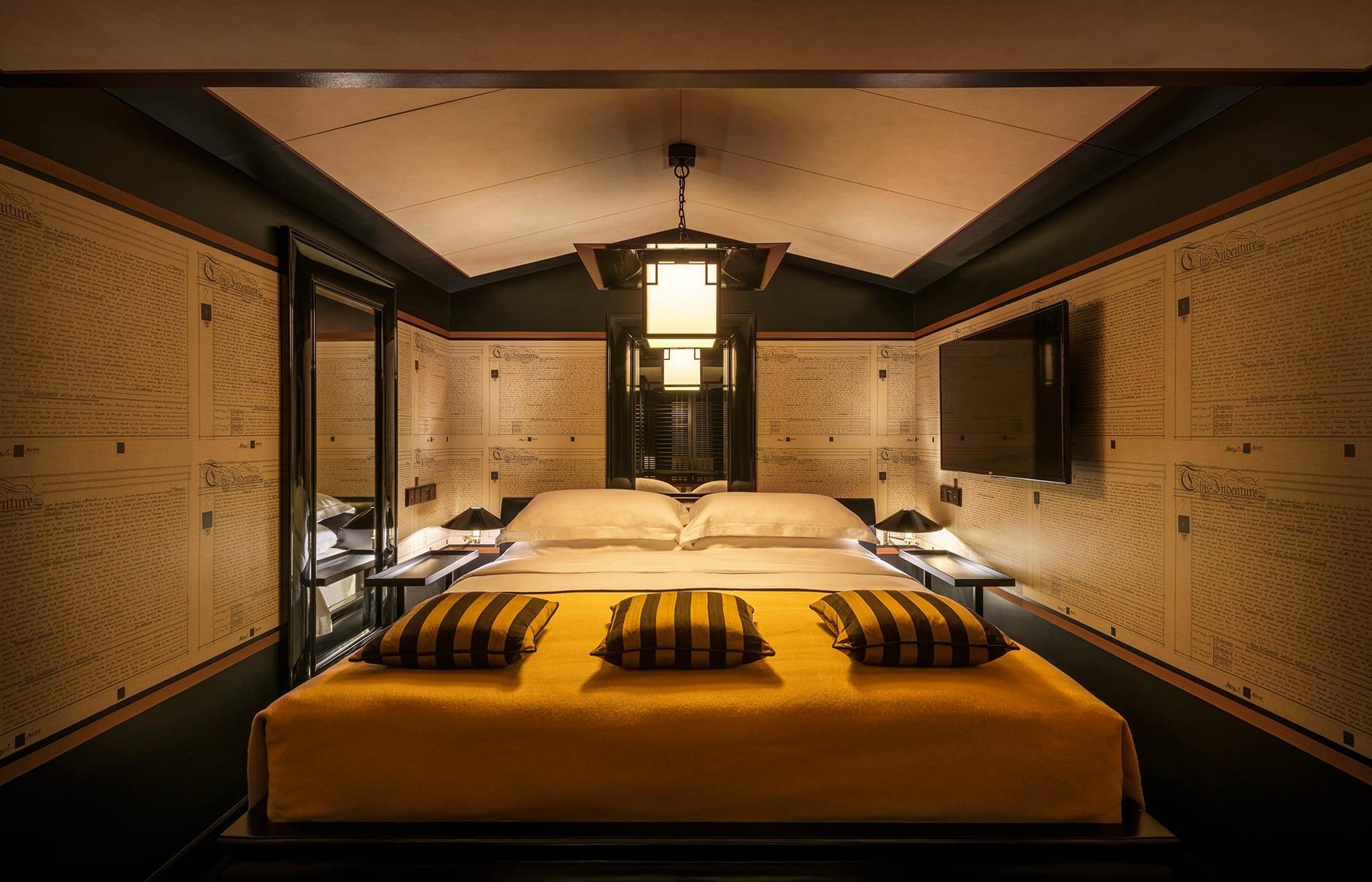Six Senses Duxton, Singapore. Opium Suite bedroom. Luxury Hotel Review by TravelPlusStyle. Photo © Six Senses Hotels Resorts Spas