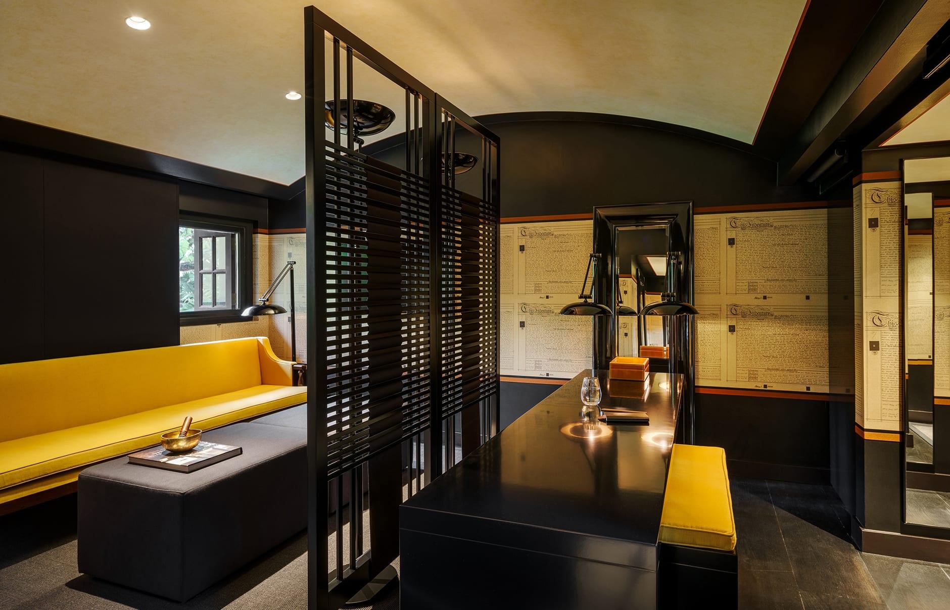 Six Senses Duxton, Singapore. Opium Suite living room. Luxury Hotel Review by TravelPlusStyle. Photo © Six Senses Hotels Resorts Spas