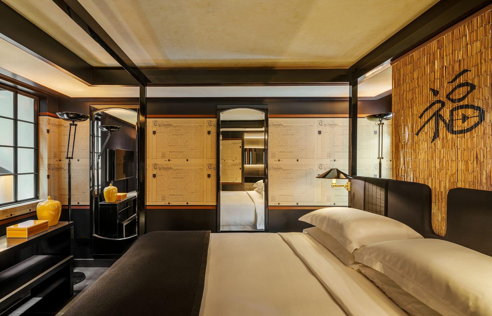 Six Senses Duxton, Singapore. Skylight Suite bedroom. Luxury Hotel Review by TravelPlusStyle. Photo © Six Senses Hotels Resorts Spas