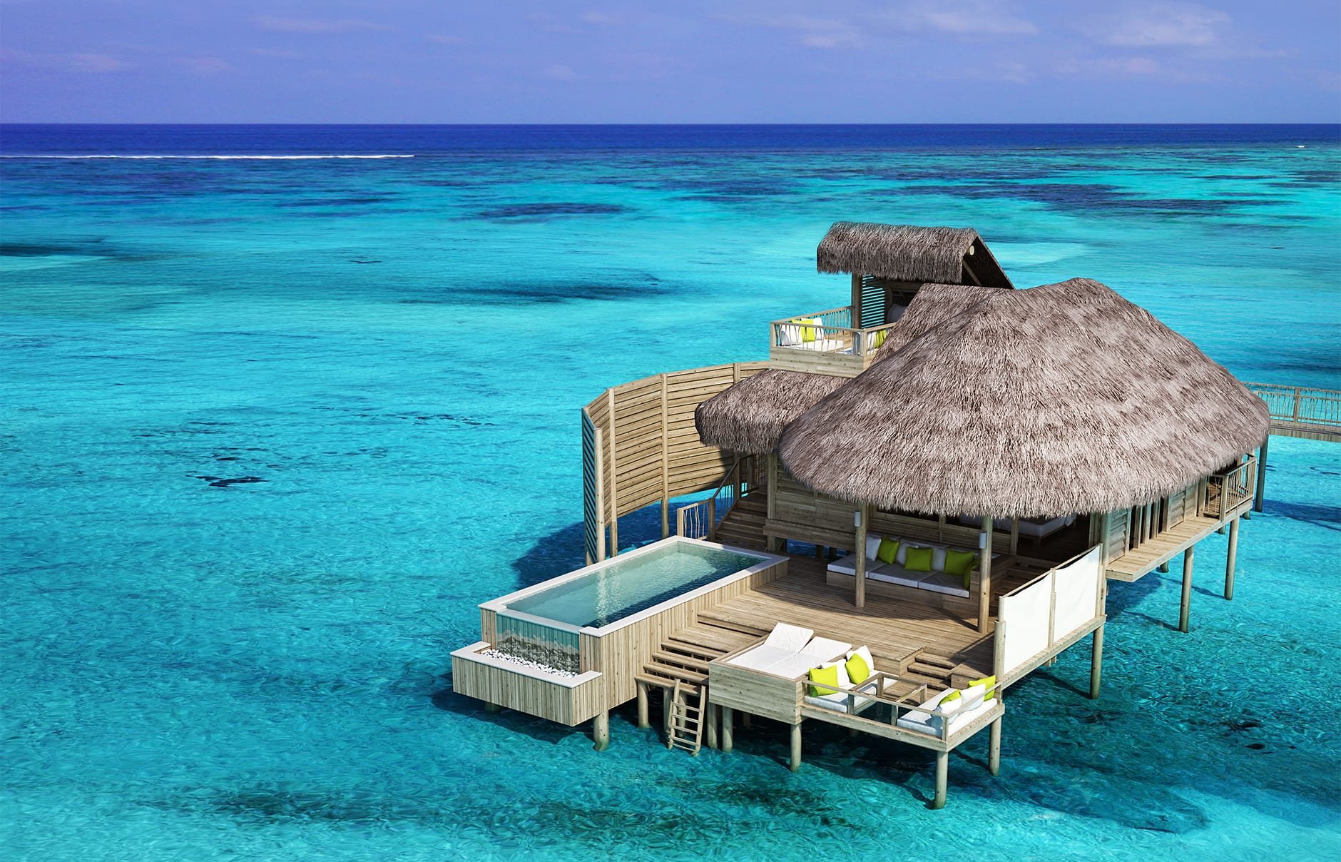 Laamu Water Villa With Pool. Six Senses Laamu, Maldives. © Six Senses  Resorts