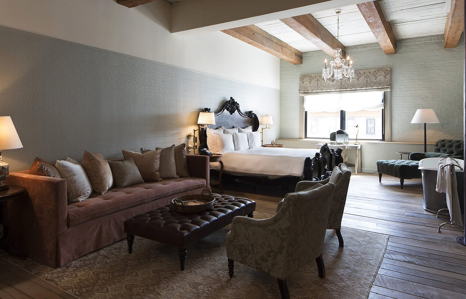 Soho house new york luxury hotels travelplusstyle for Chambre a coucher york