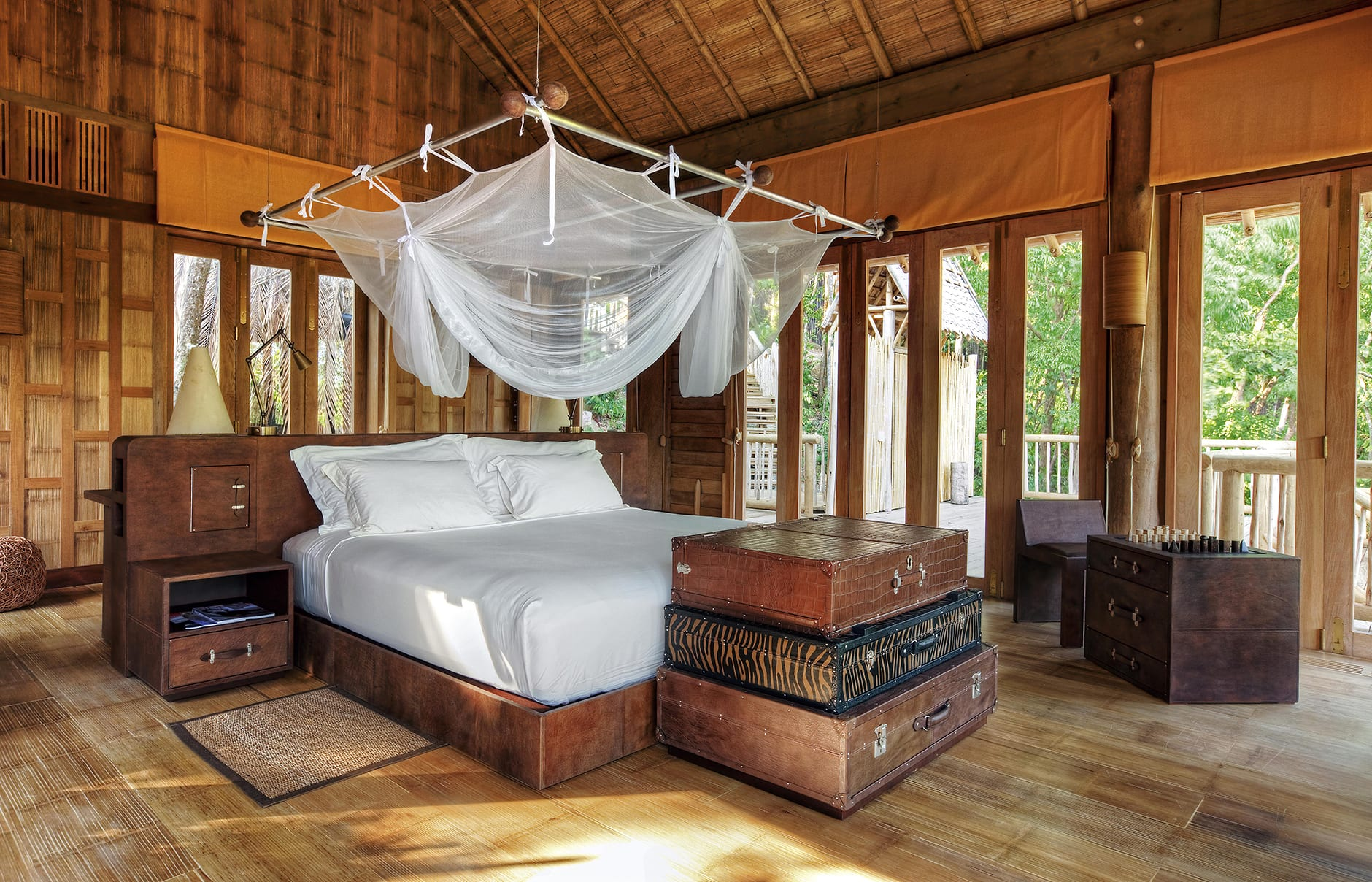 Hill Pool Villa bedroom. Soneva Kiri, Koh Kood, Thailand. © Soneva.com