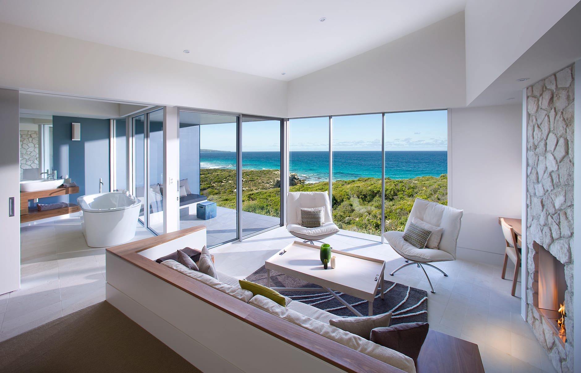 Ocean Retreat. Southern Ocean Lodge, Kangaroo Island, Australia. © Luxury Lodges of Australia