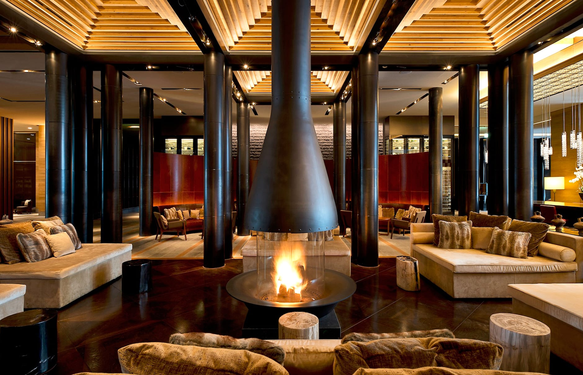 Lobby. The Chedi Andermatt, Switzerland. © GHM
