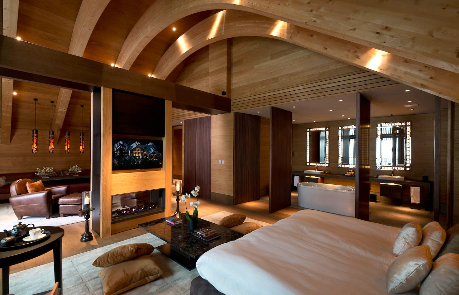 Gemsstock Suite. The Chedi Andermatt, Switzerland. © GHM