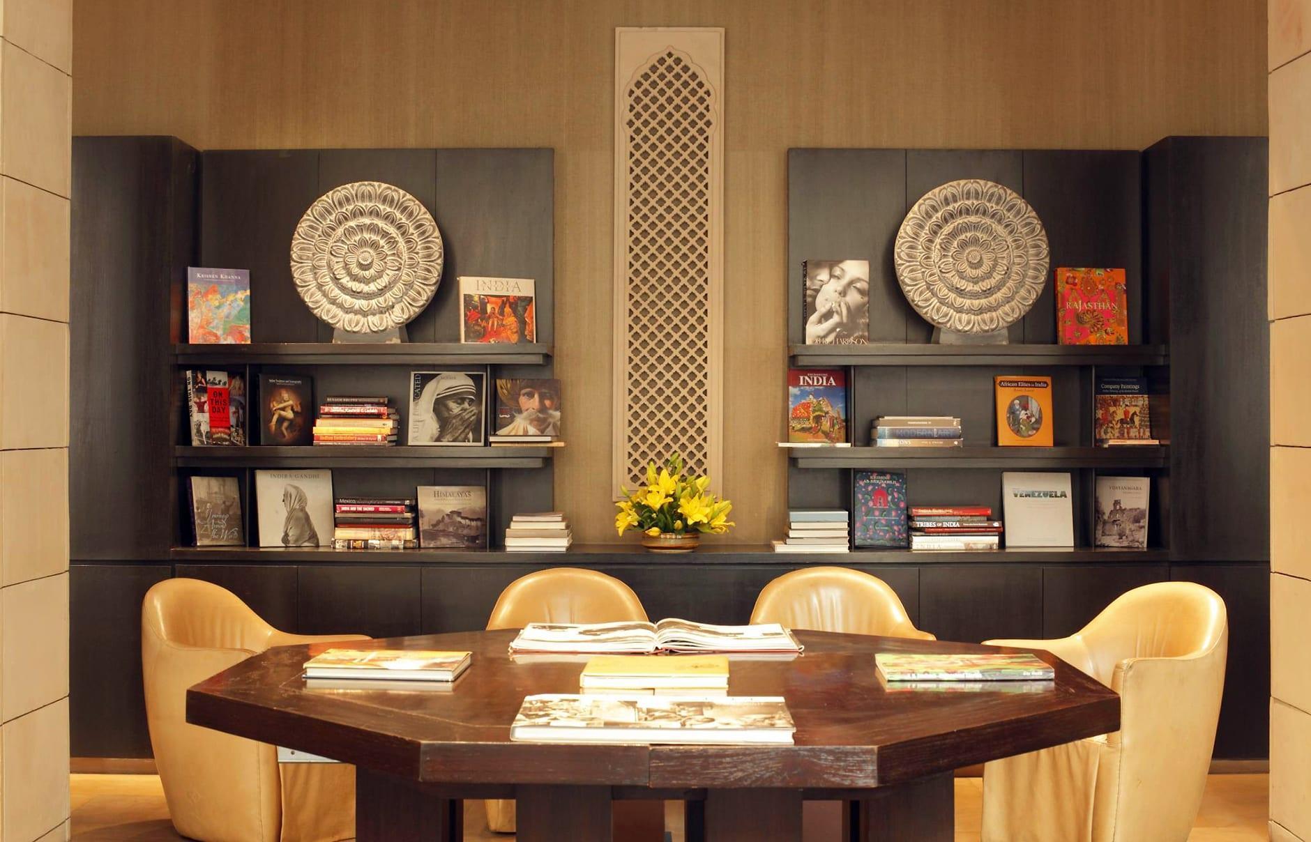 The Library. The Lodhi, New Delhi, India. Hotel Review by TravelPlusStyle. Photo © The Lodhi