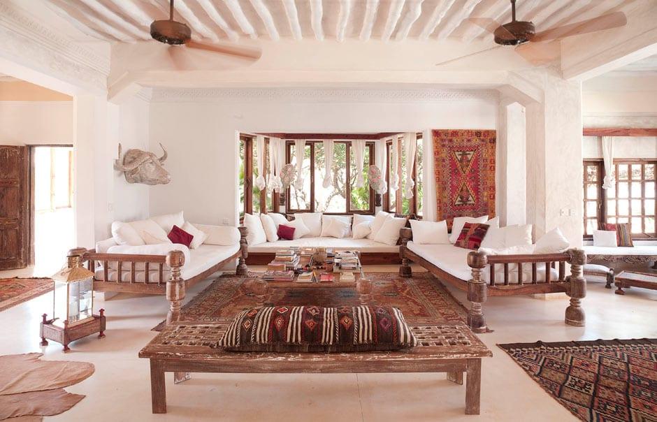 Living Room of the Majlis Villa © The Majlis Lamu