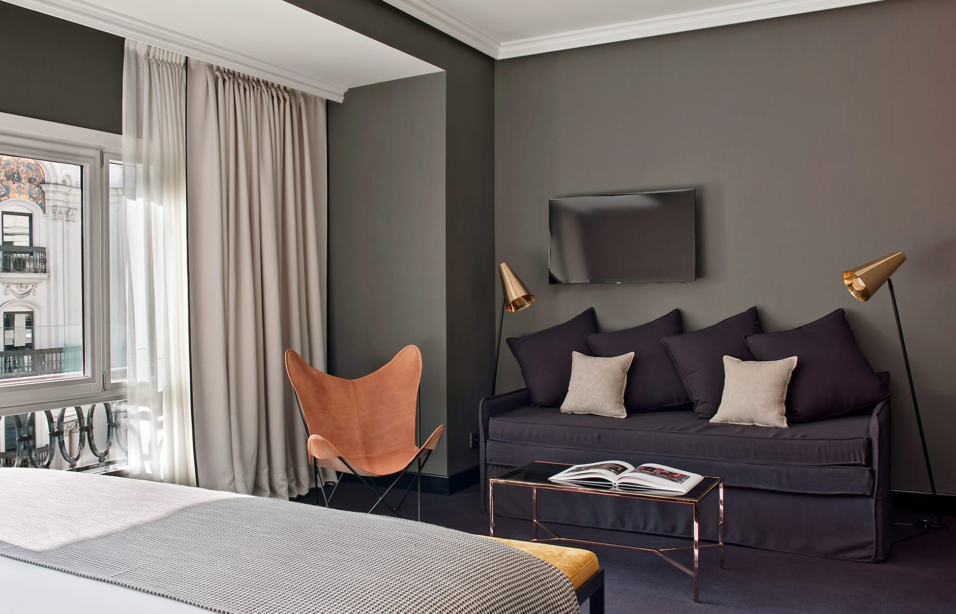Junior Suite. The Principal Madrid, Spain. Hotel Review by TravelPlusStyle. Photo © The Principal Madrid