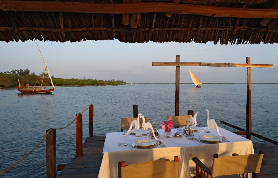 Jetty dinner © The Red Pepper House, Lamu