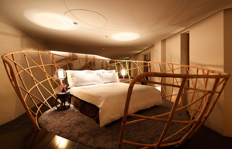Happiness Suite bedroom. The Swatch Art Peace Hotel, Shanghai. © The Swatch Group Ltd