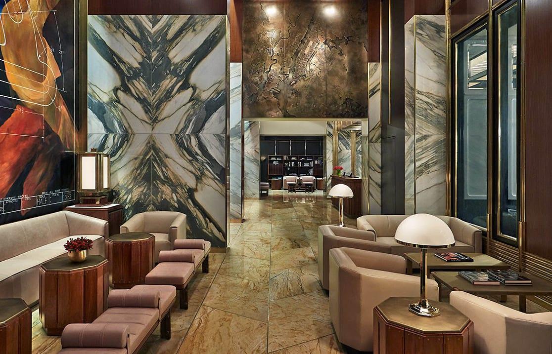 Lobby. Viceroy New York, USA. © Viceroy Hotel Group.
