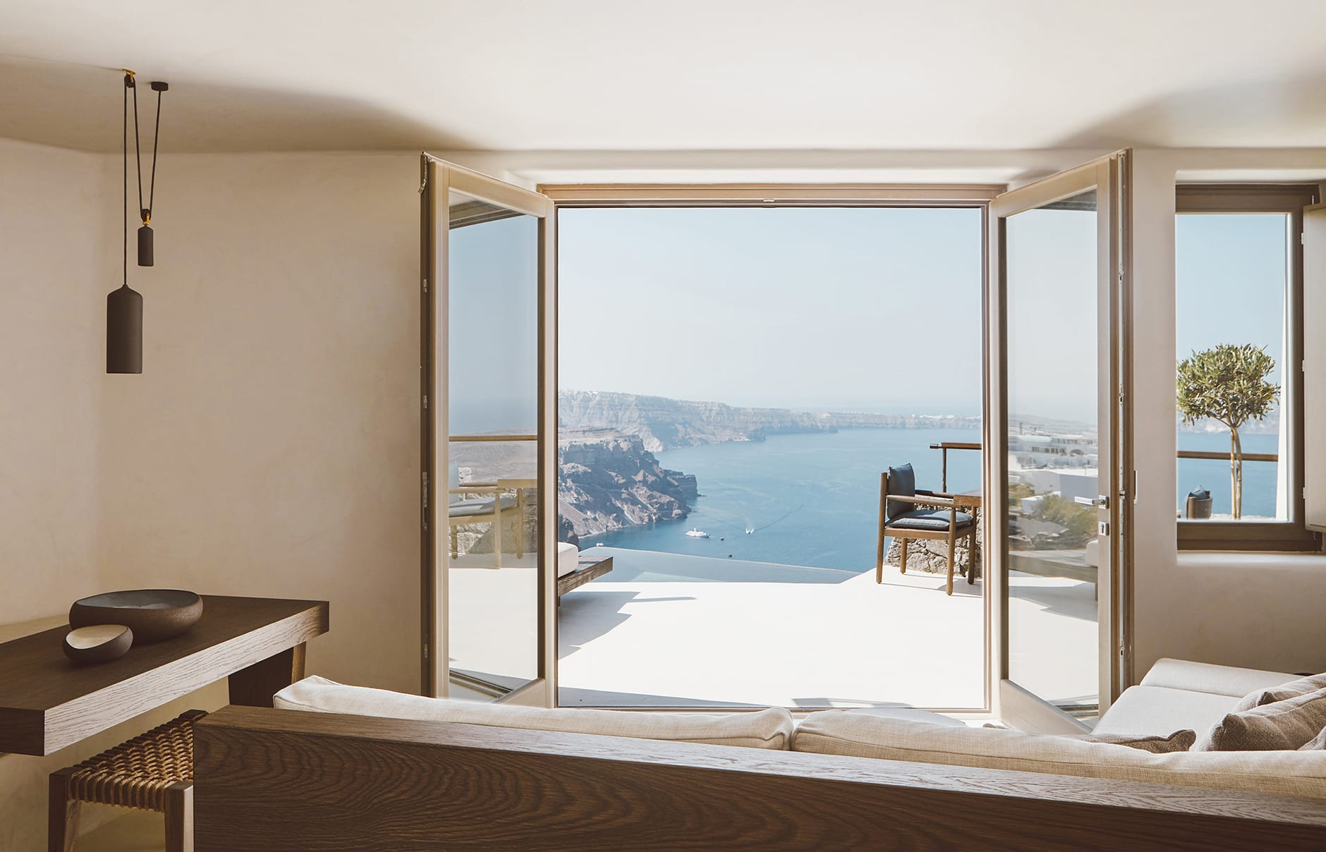 Vora Villas Santorini, Greece. Hotel Review by TravelPlusStyle. Photo © VORA