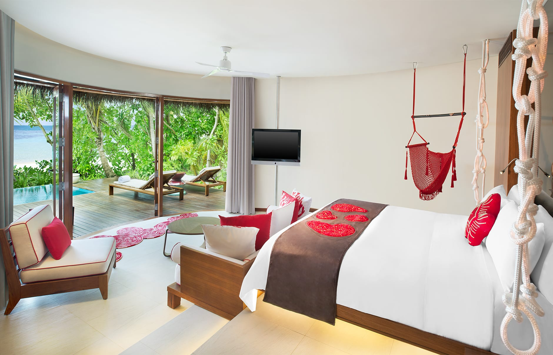 Beach Oasis Retreat. W Maldives, Fesdu Island, Maldives. Hotel Review by TravelPlusStyle. Photo © Marriott International