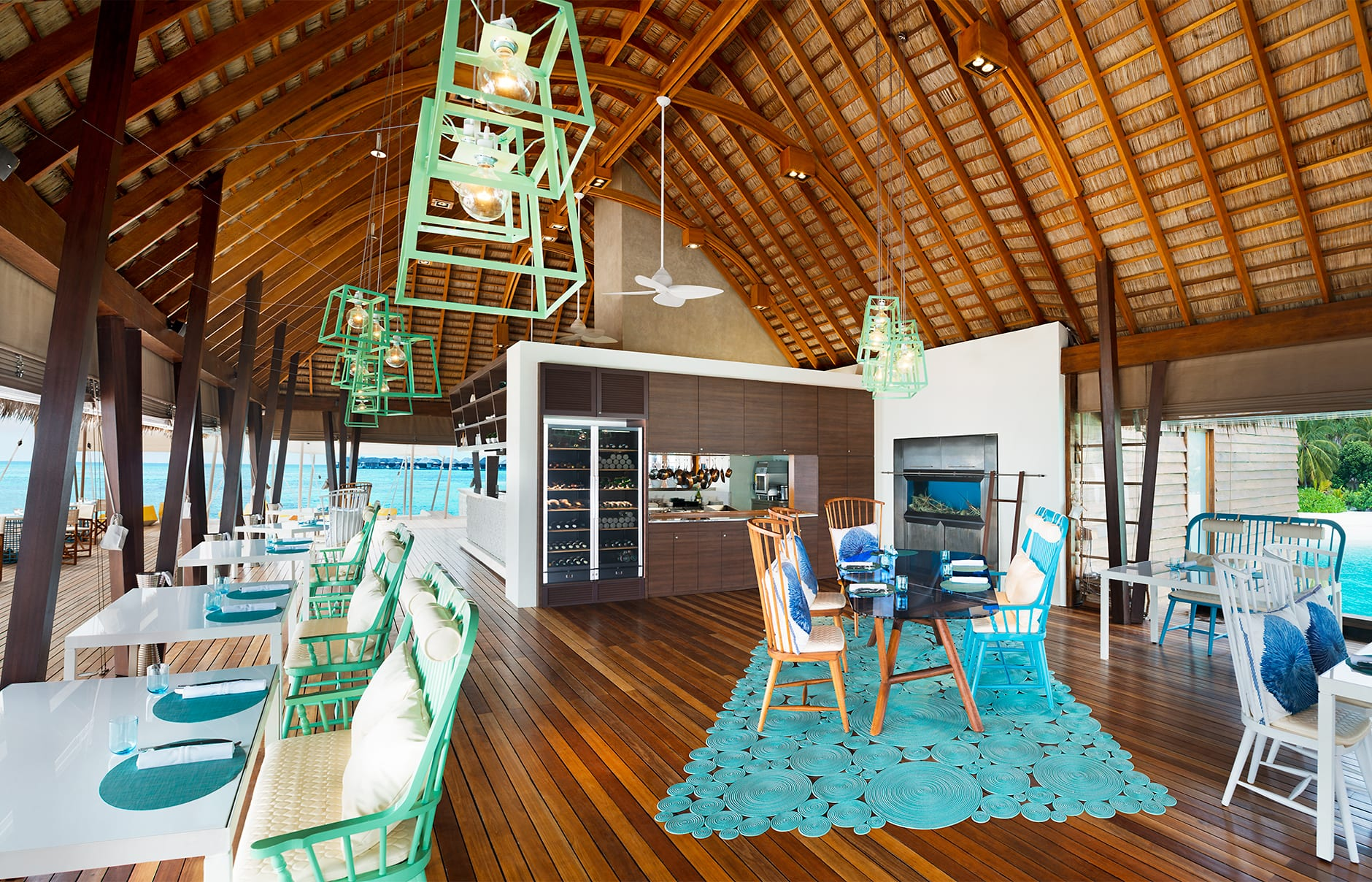 Fish Restaurant. W Maldives, Fesdu Island, Maldives. Hotel Review by TravelPlusStyle. Photo © Marriott International