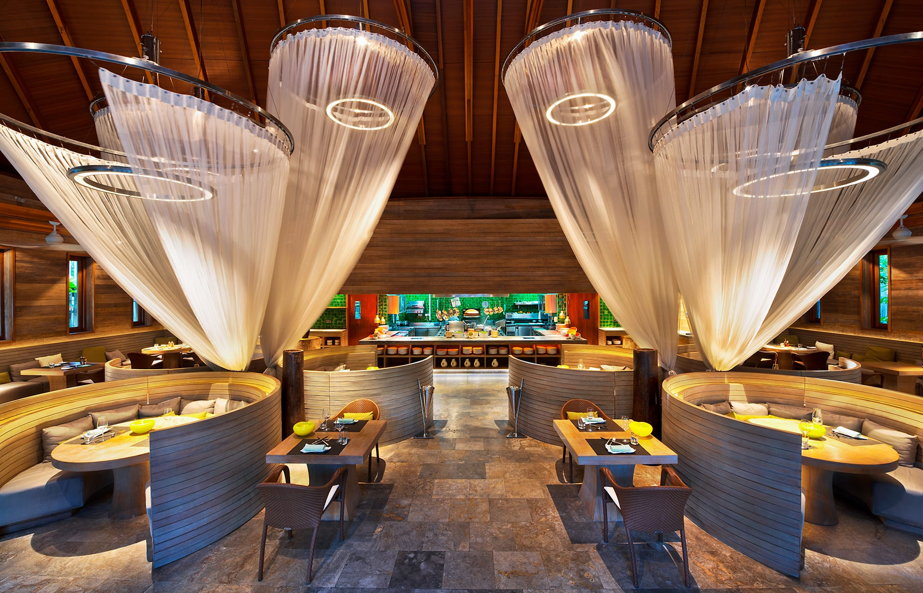 Kitchen Restaurant. W Maldives, Fesdu Island, Maldives. Hotel Review by TravelPlusStyle. Photo © Marriott International