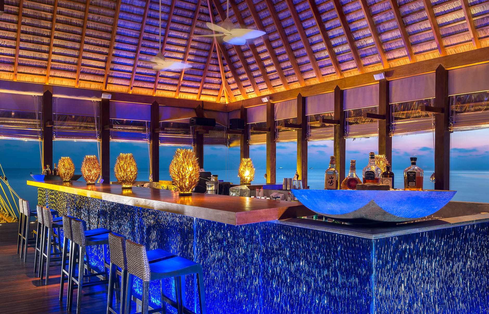 Sip Lounge. W Maldives, Fesdu Island, Maldives. Hotel Review by TravelPlusStyle. Photo © Marriott International