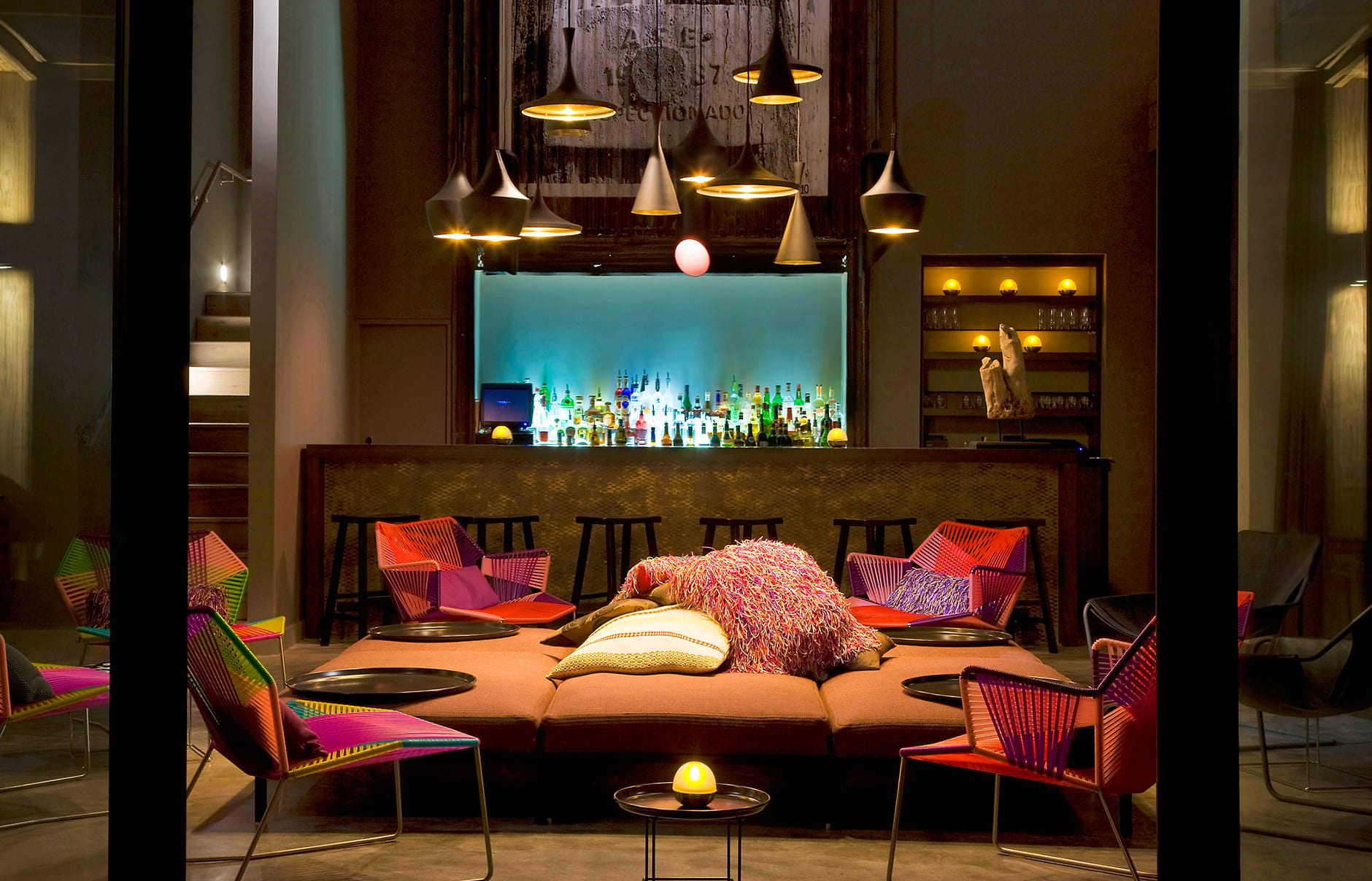 Living Room bar. W Retreat & Spa – Vieques Island, Puerto Rico. © Starwood Hotels & Resorts